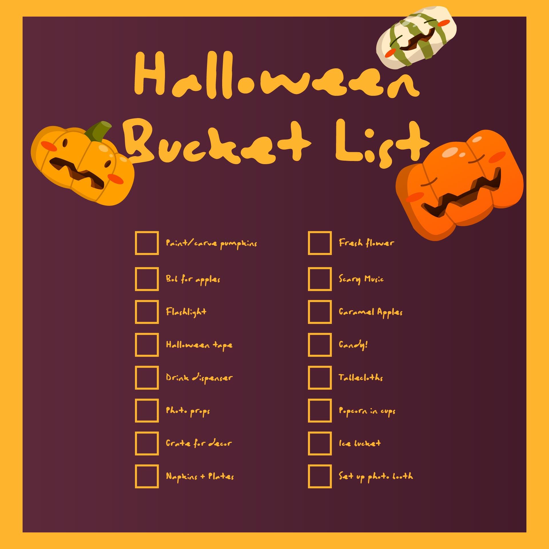 Spooky Halloween To Do List Free Printable