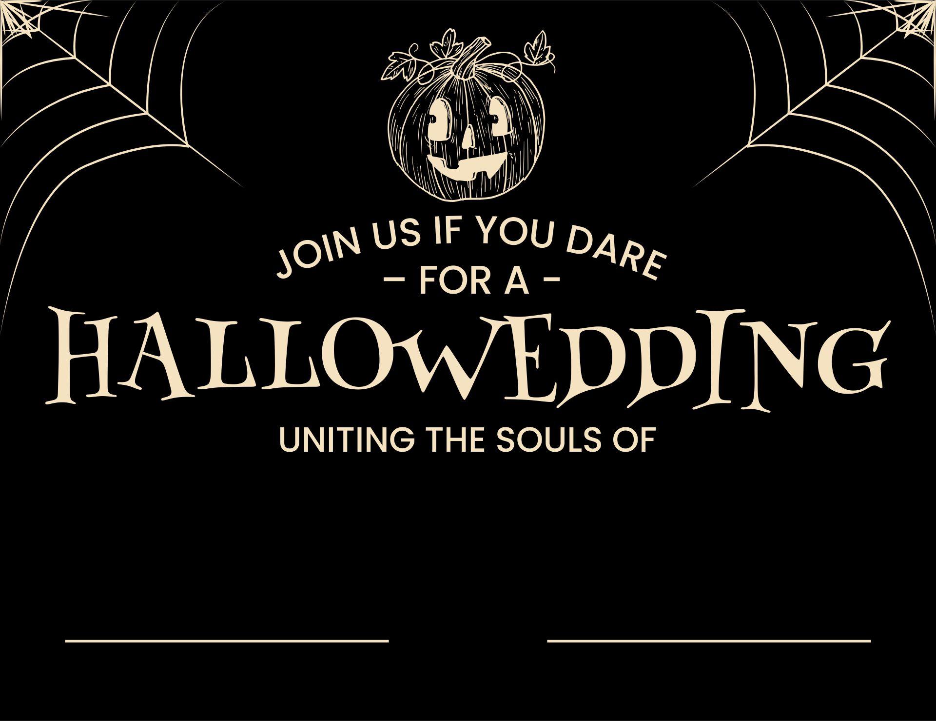 Spooky Halloween Wedding Invitations