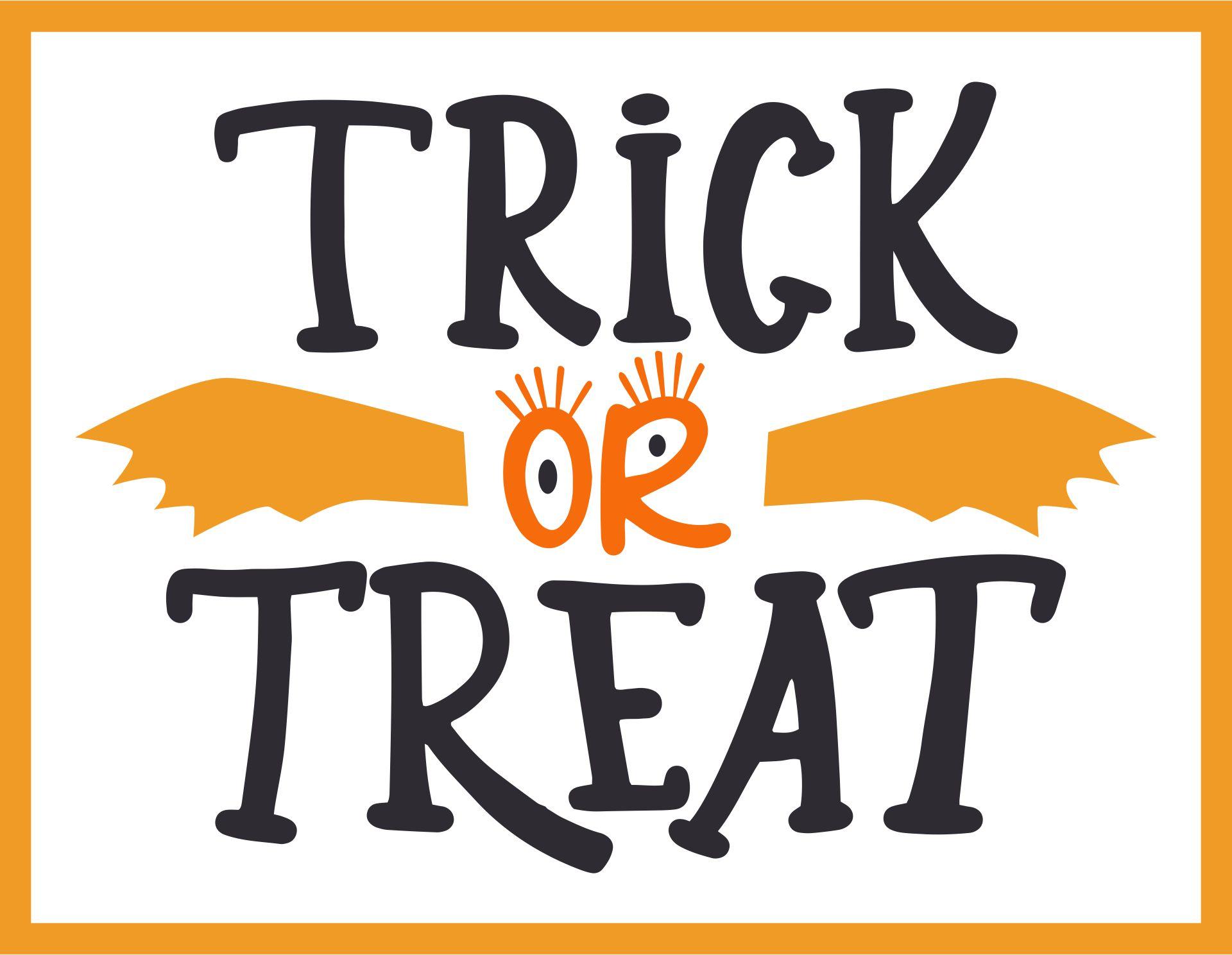 Trick Or Treat Happy Halloween Card