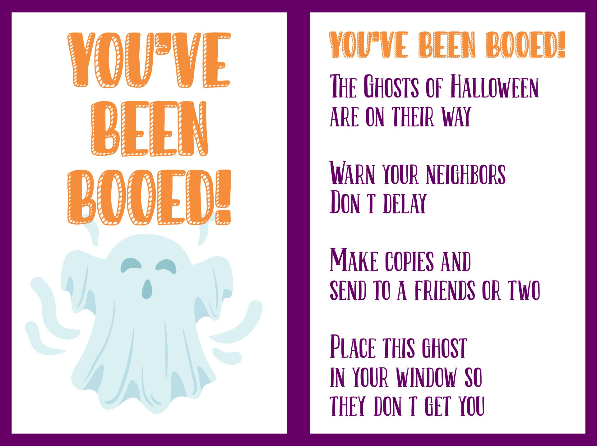 You Have Been BOOED And A Free BOO Letter Printable