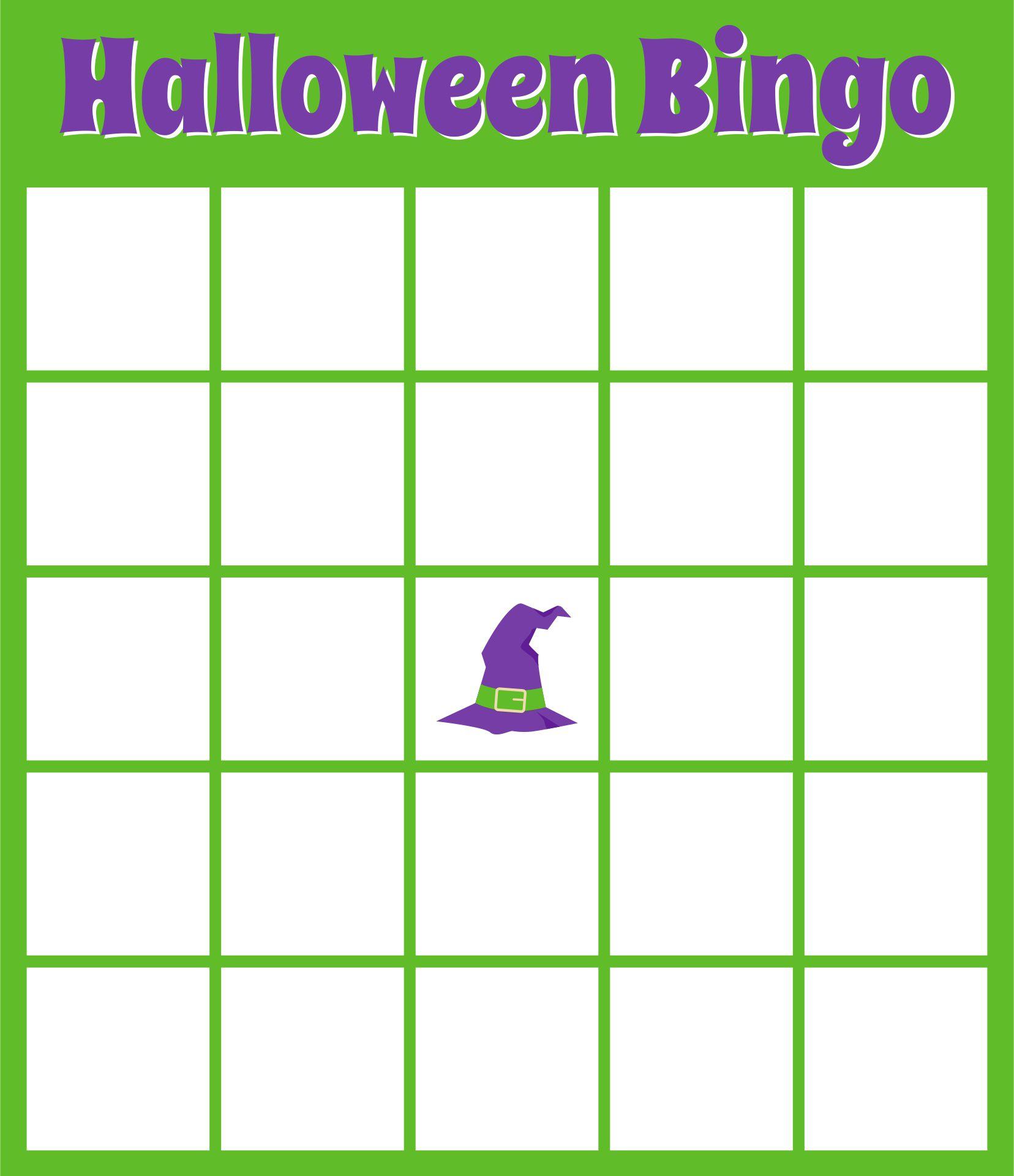 Blank Halloween Bingo Cards Printable