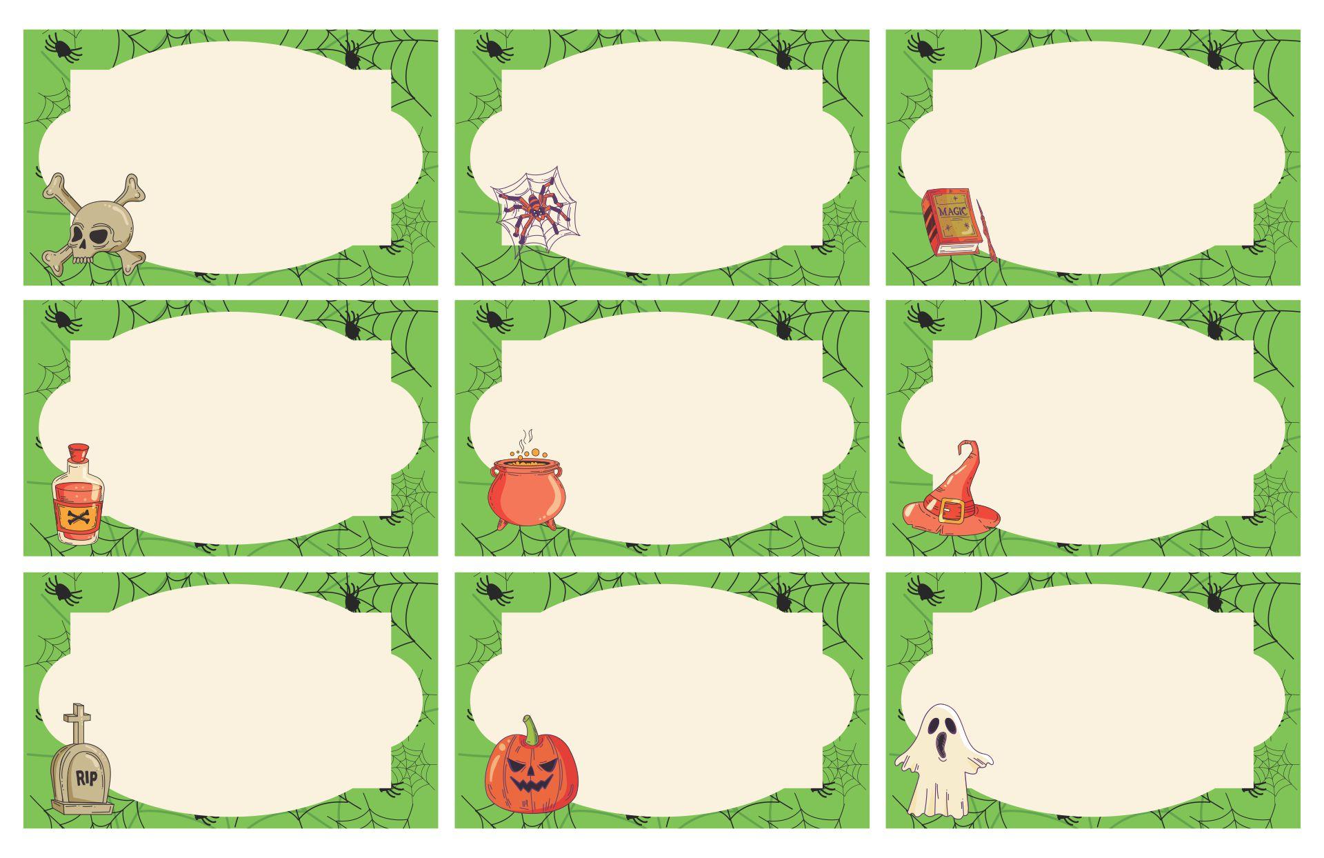 Blank Printable Halloween Name Tags