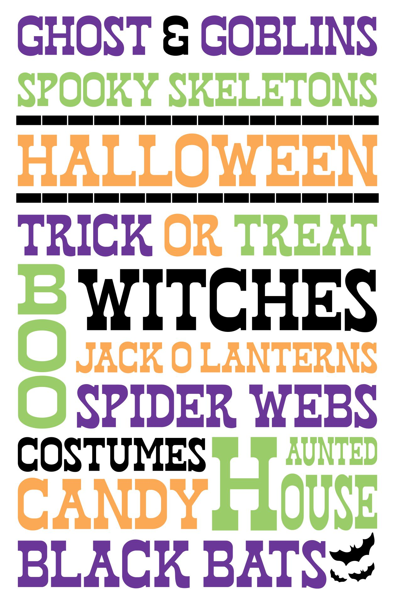 Free Halloween Printables Subway Art And Party Bunting