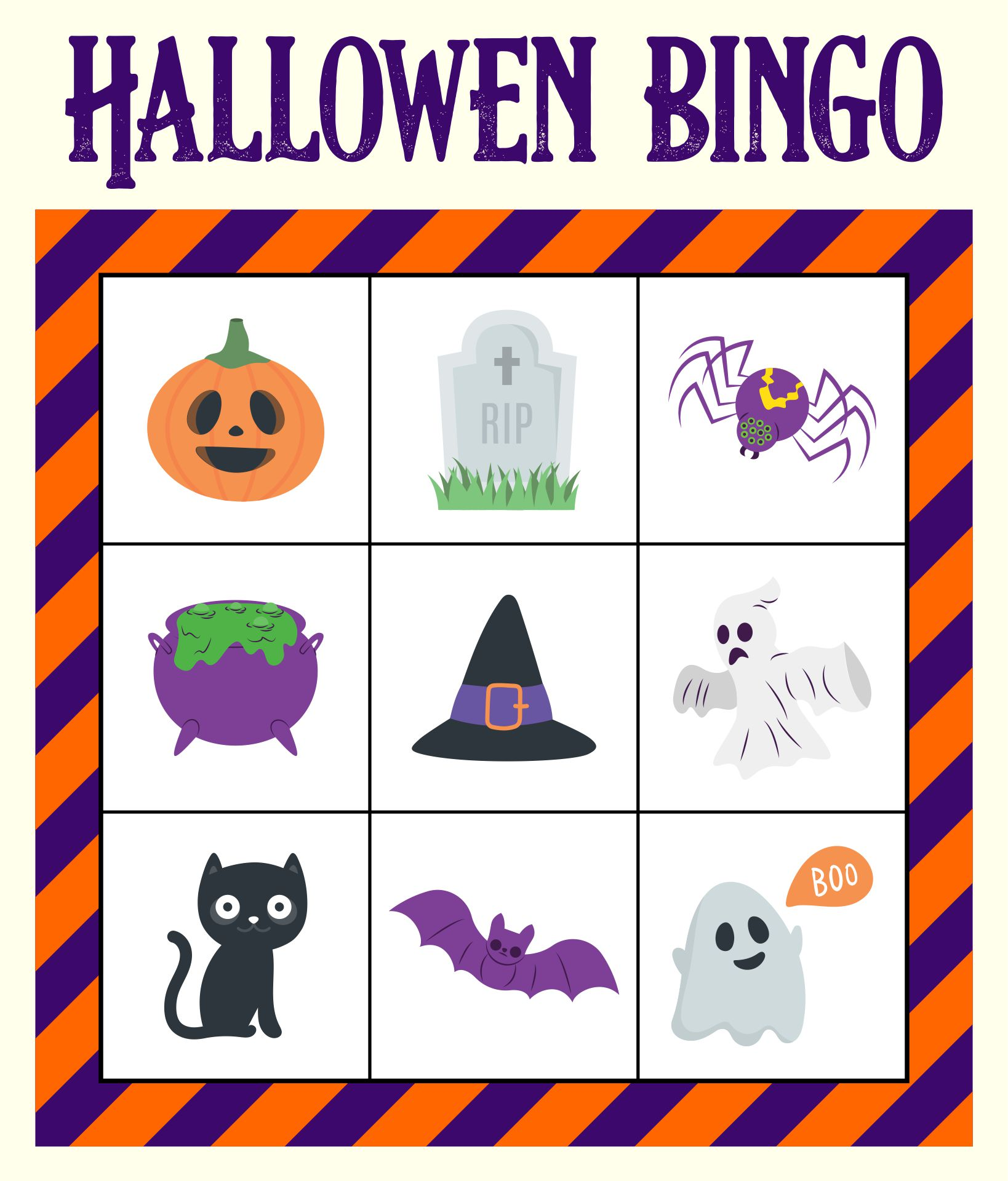 Free Printable Halloween Bingo Boards