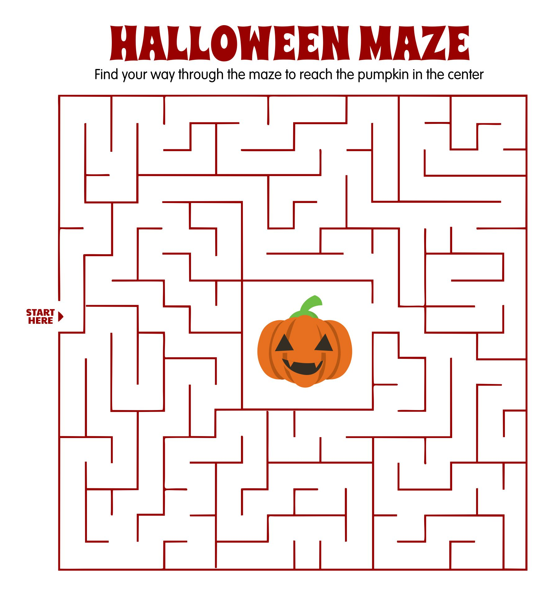 Free Printable Halloween Games And Puzzles