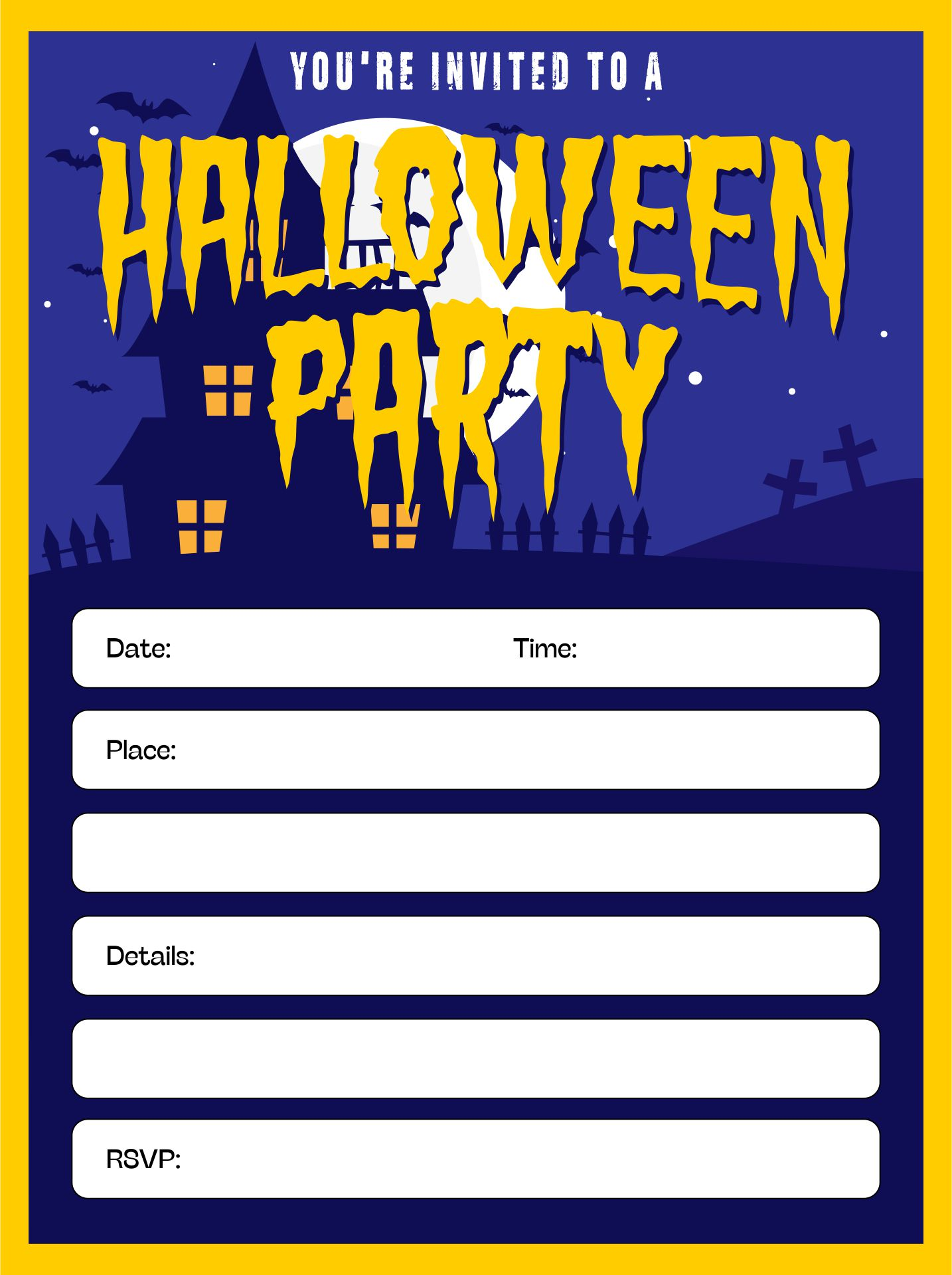 Free Printable Halloween Invitation Templates
