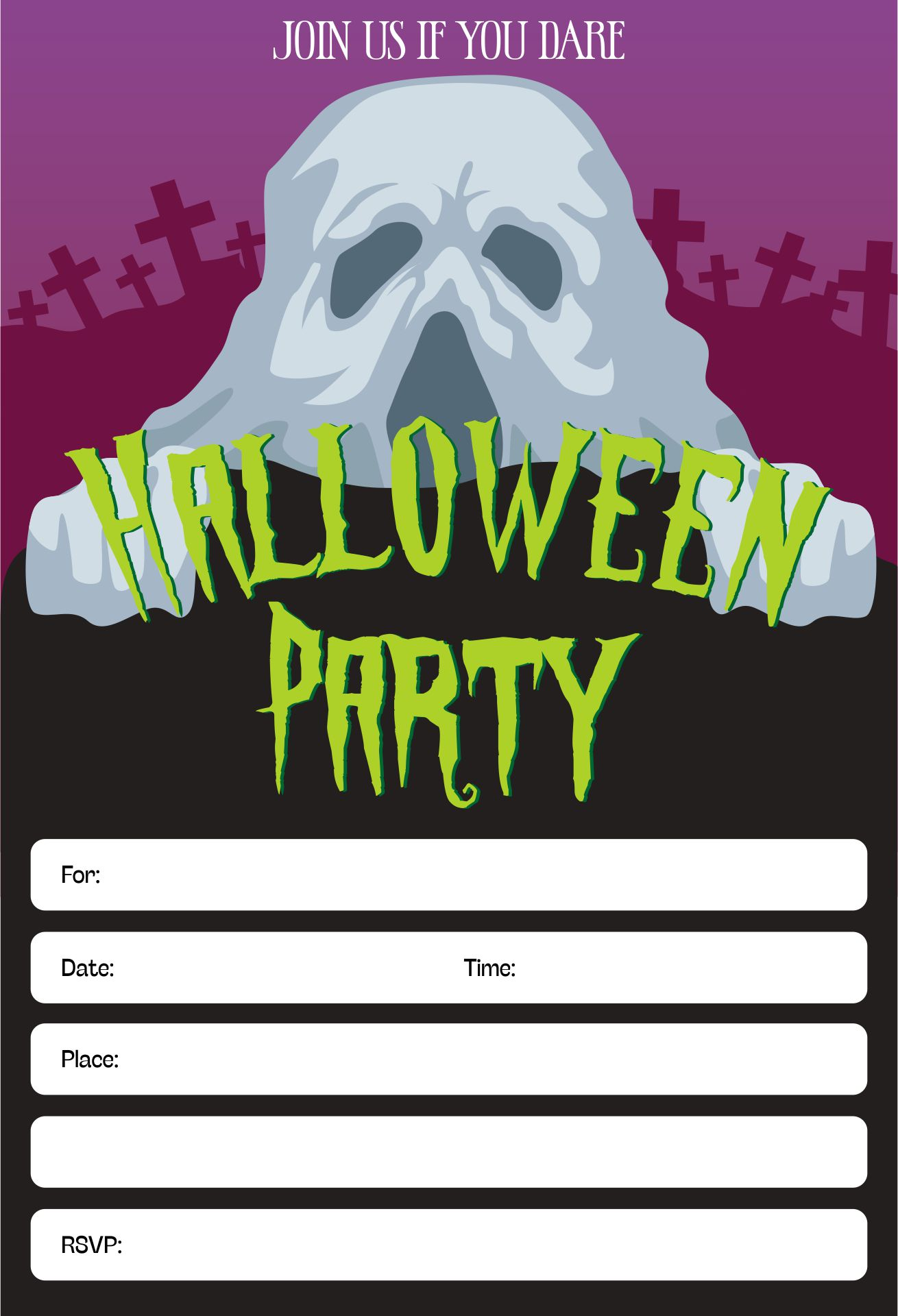 Free Printable Halloween Invitations For Your Super Spooktacular Parties