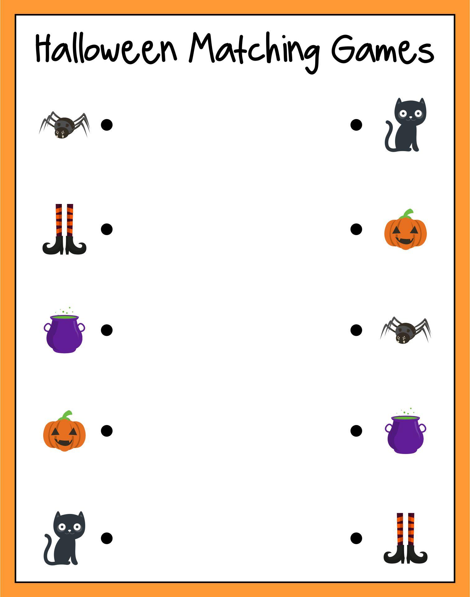 Free Printable Halloween Matching Games