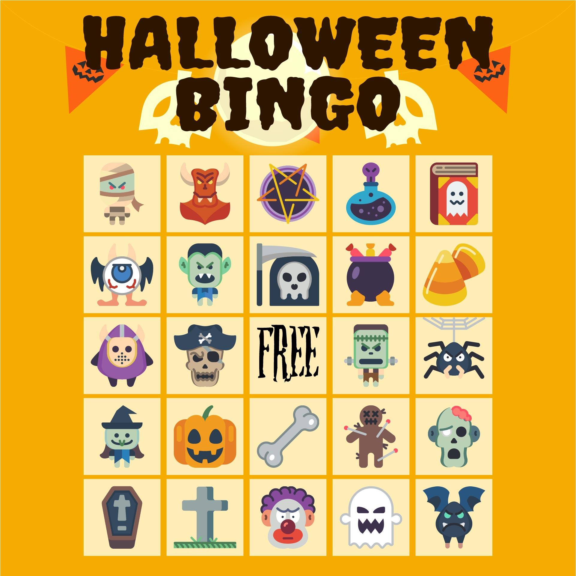 Free Printable Halloween Themed Bingo Cards