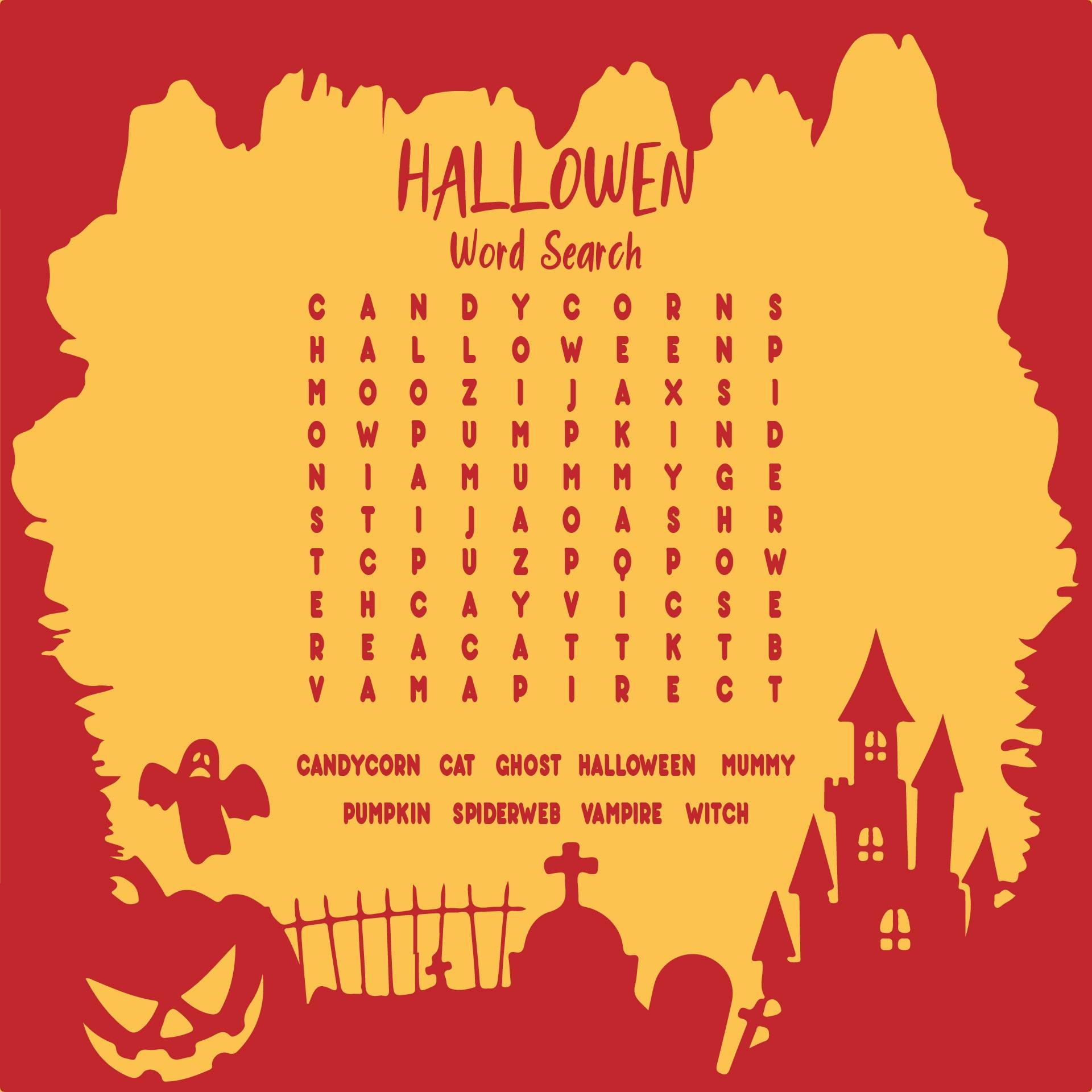 Free Printable Halloween Word Scramble Worksheet PDF For Kids