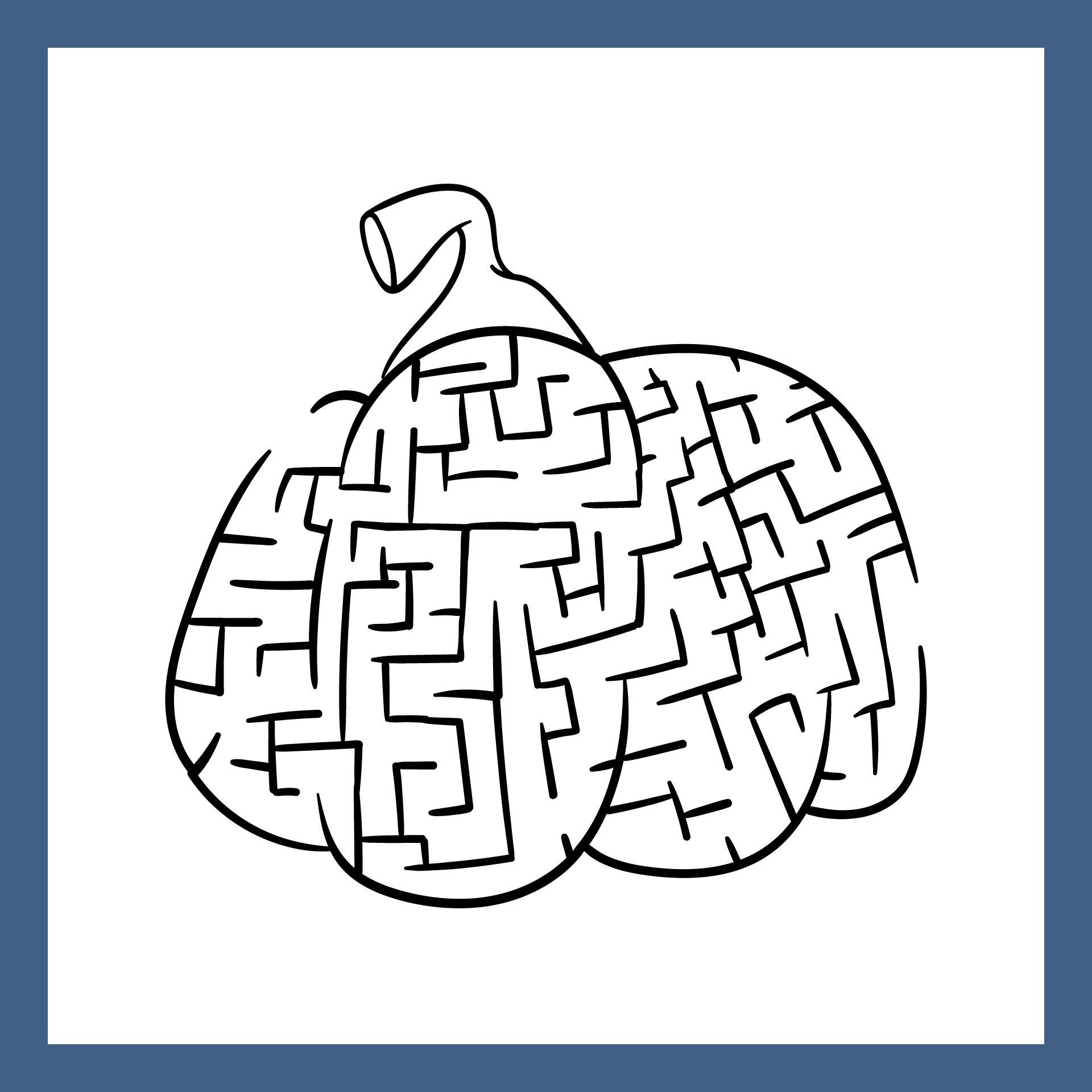 Free Printable Pumpkin Maze