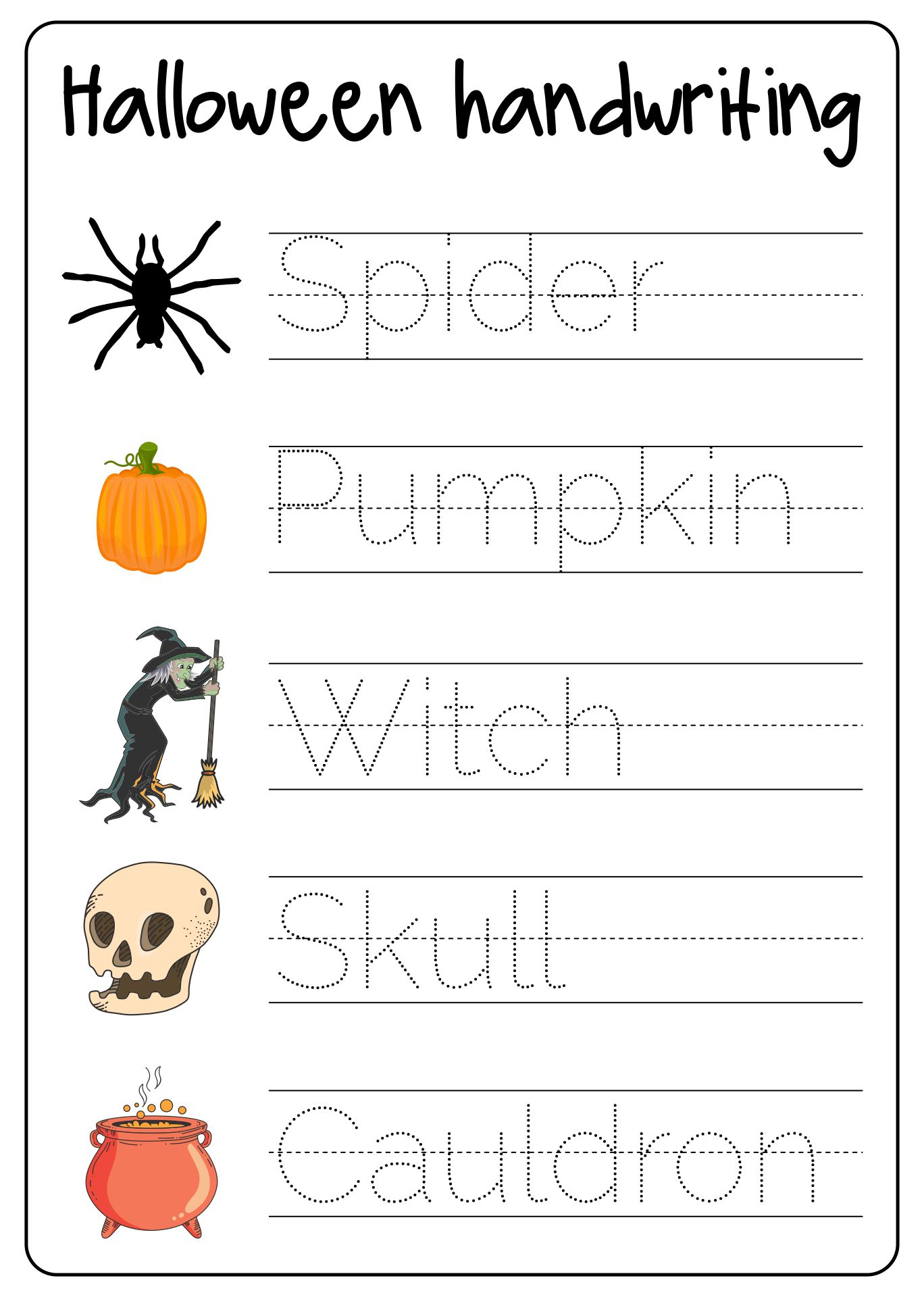Fun Halloween Activities And Games For Young Kids Printable