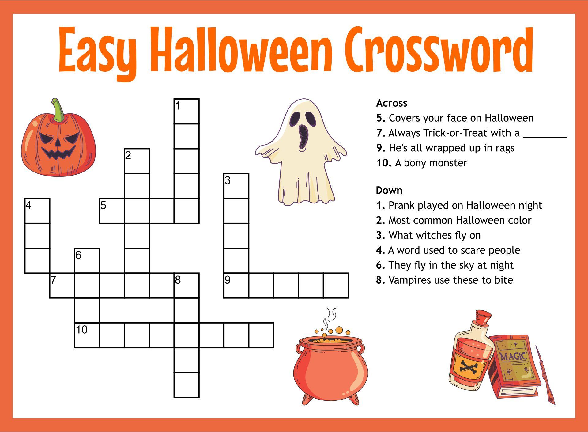 Grade 4 Halloween Worksheet Printable