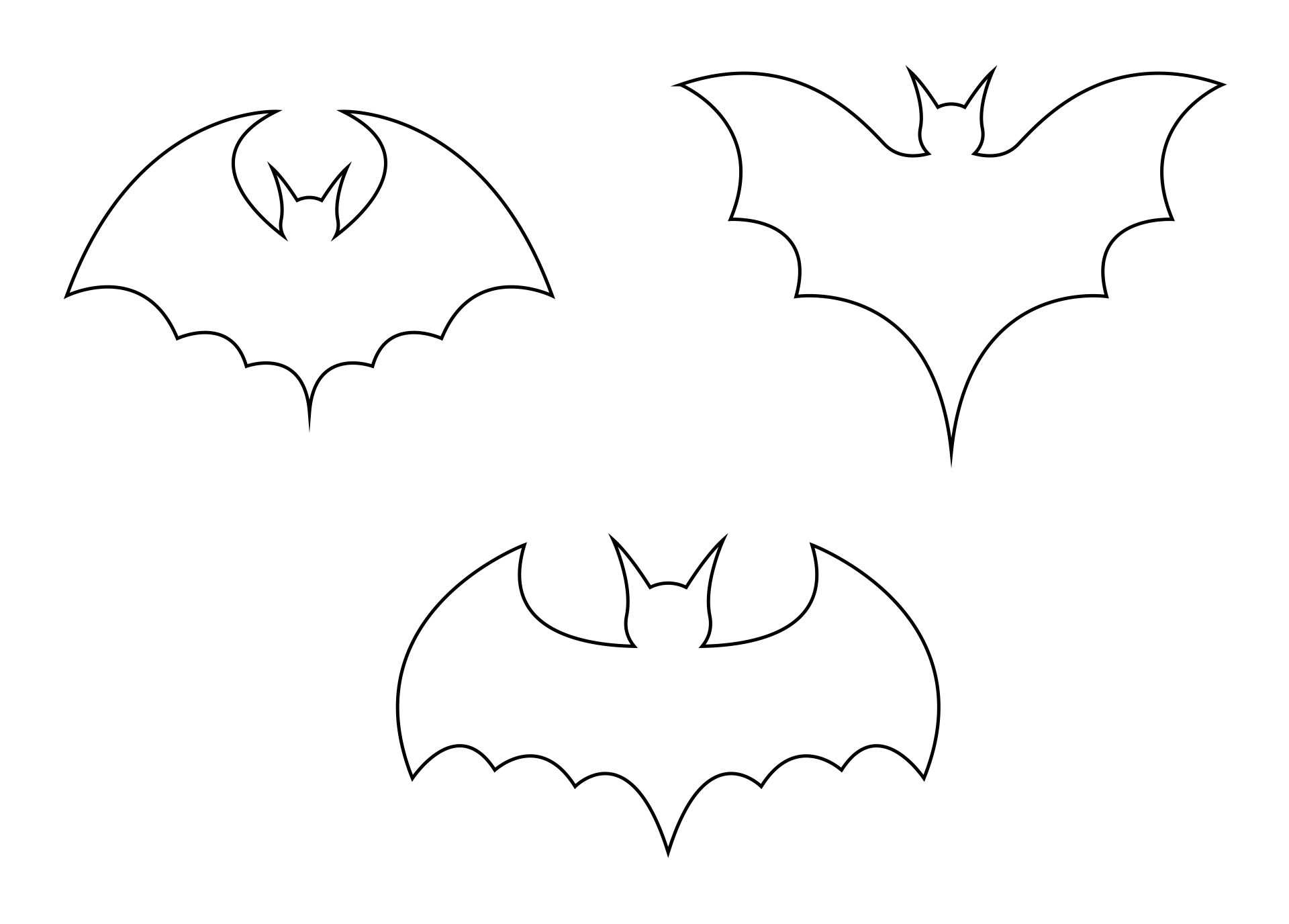 Halloween Bat Stencil Free Printable