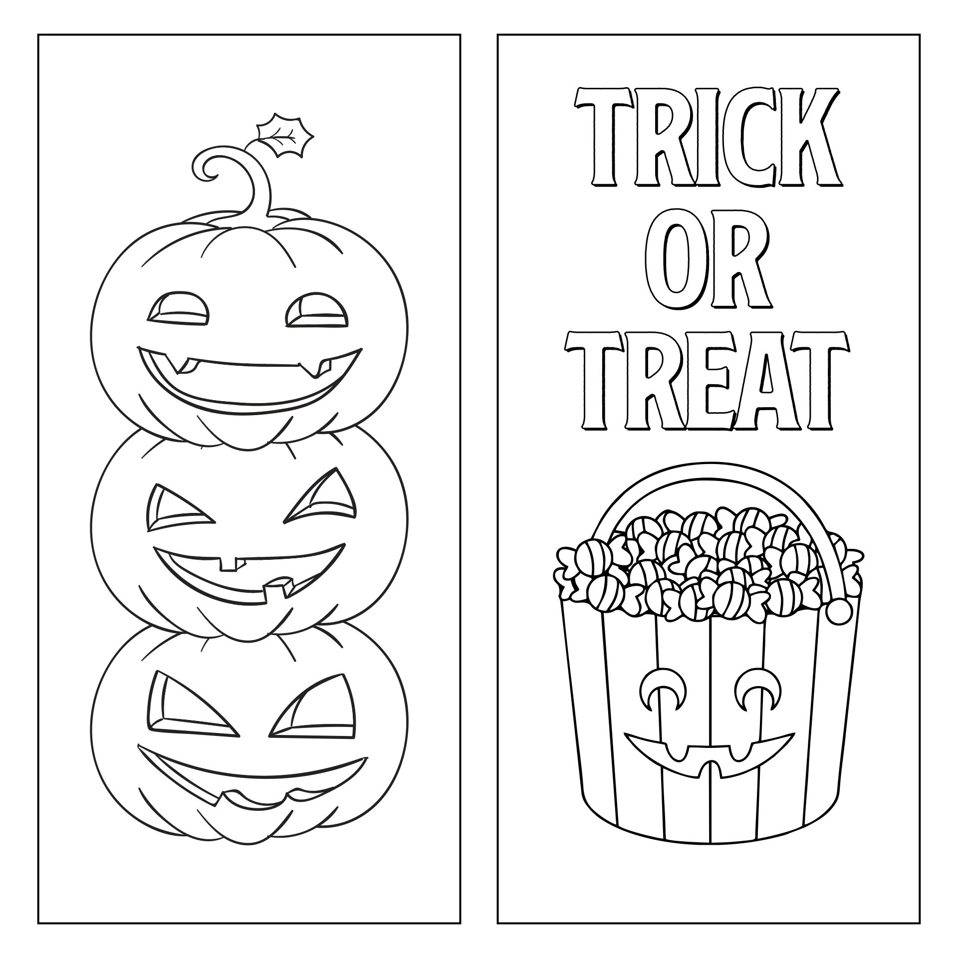 Halloween Bookmarks For Kids To Color