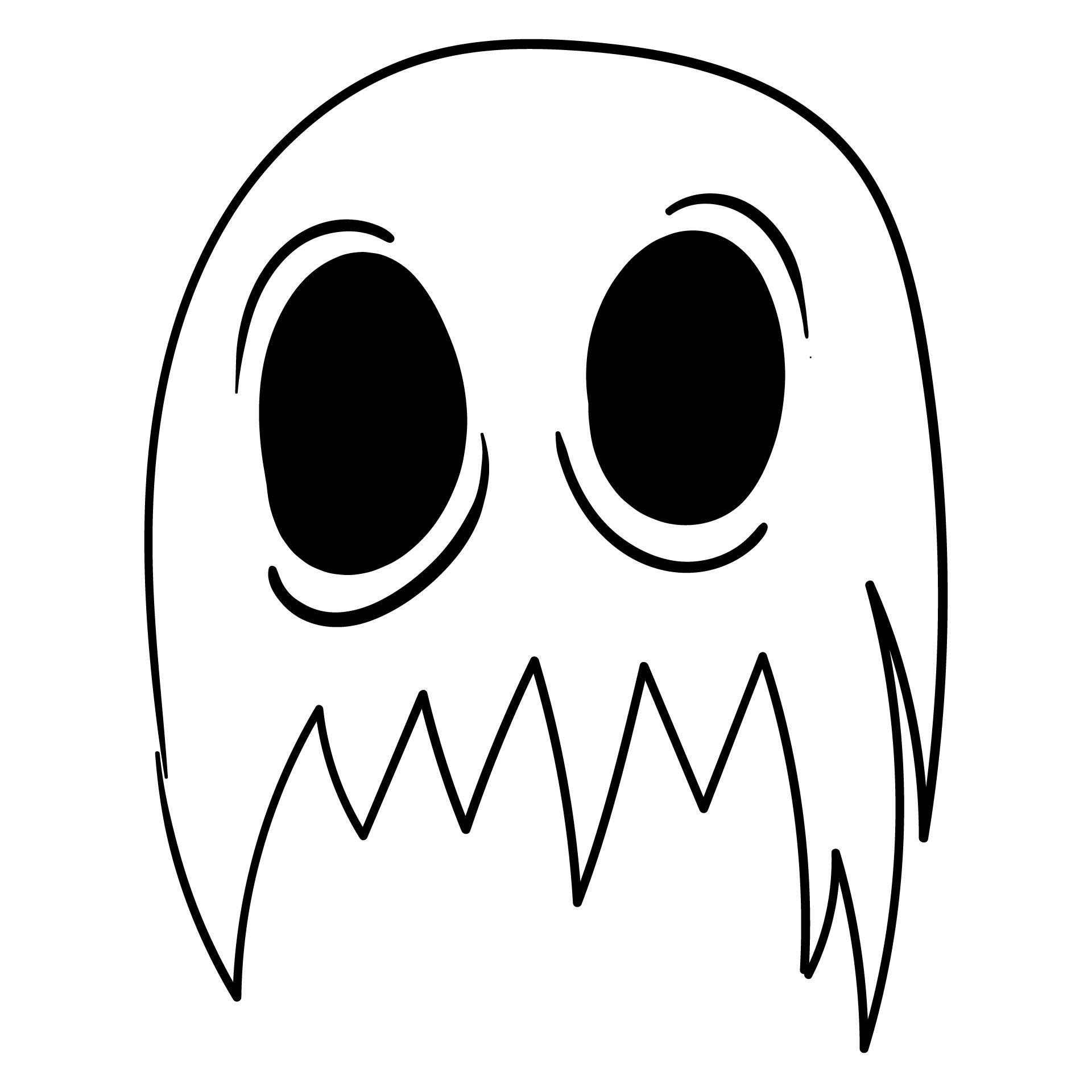 Halloween Ghost Mask Templates
