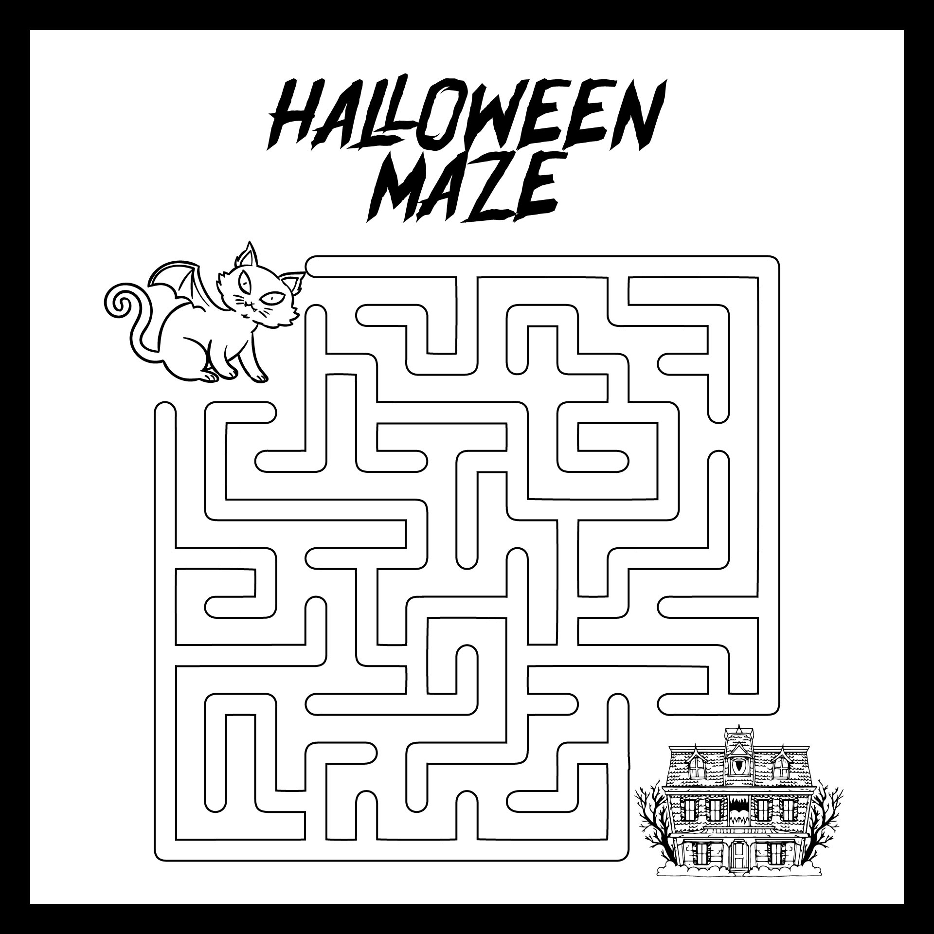 Halloween Maze Coloring Pages