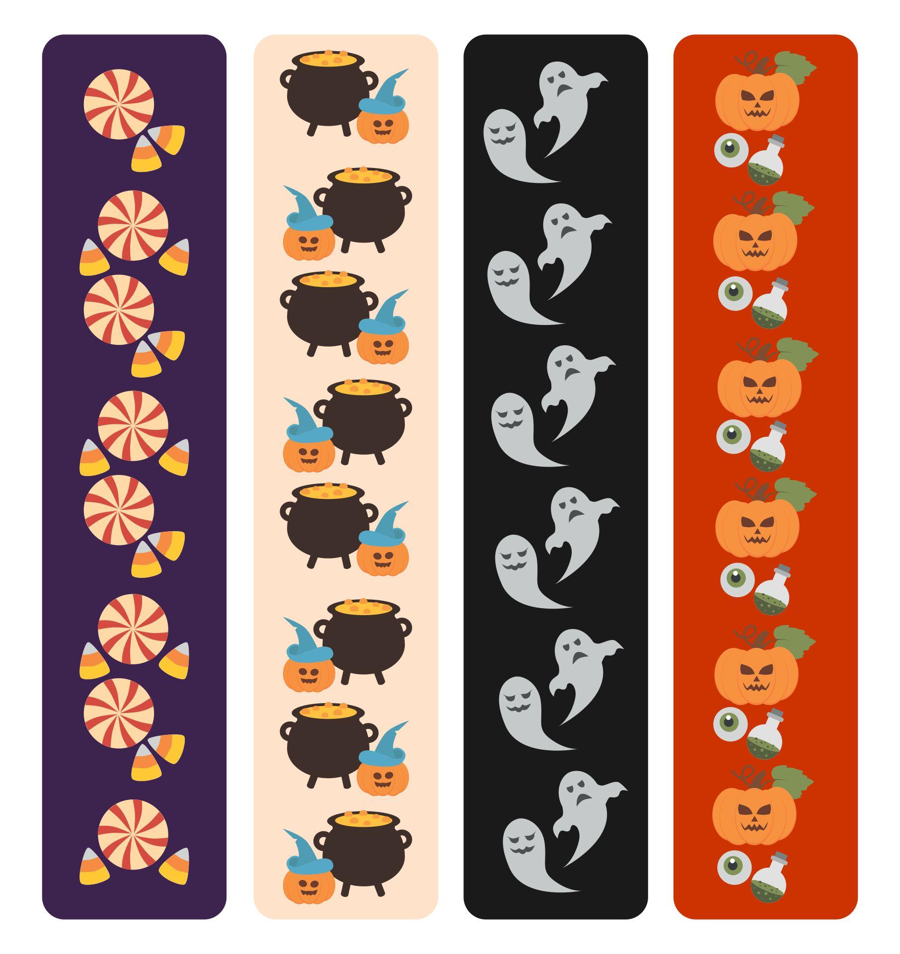 Halloween Printable Bookmarks For Kids