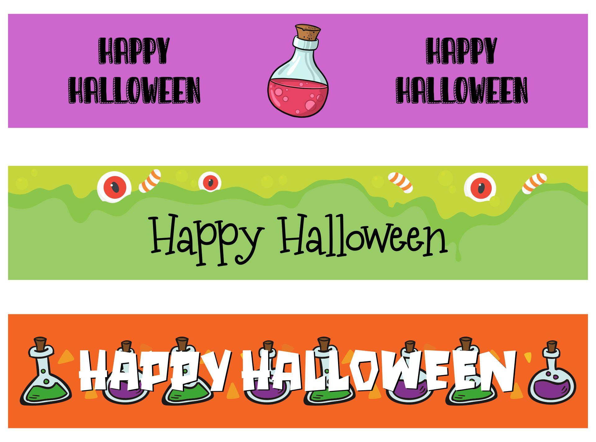 Halloween Printable Labels For Bottles