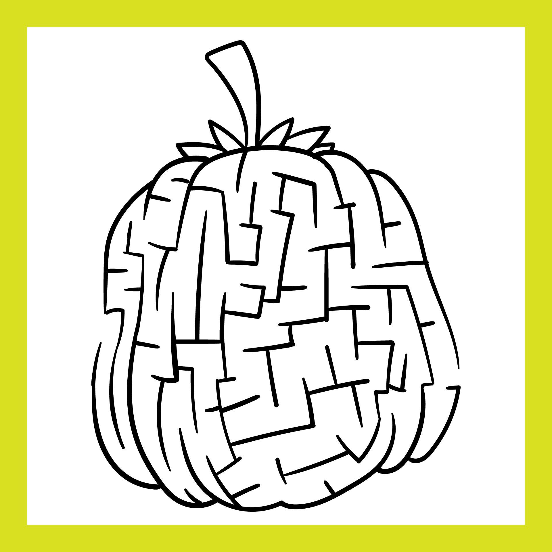 Halloween Printable Pumpkin Maze