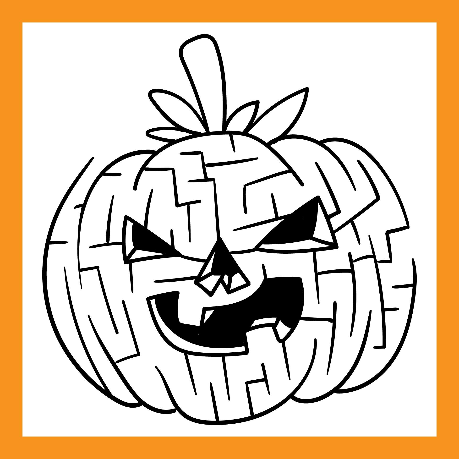 Halloween Pumpkins Labyrinth Puzzle Free Printable