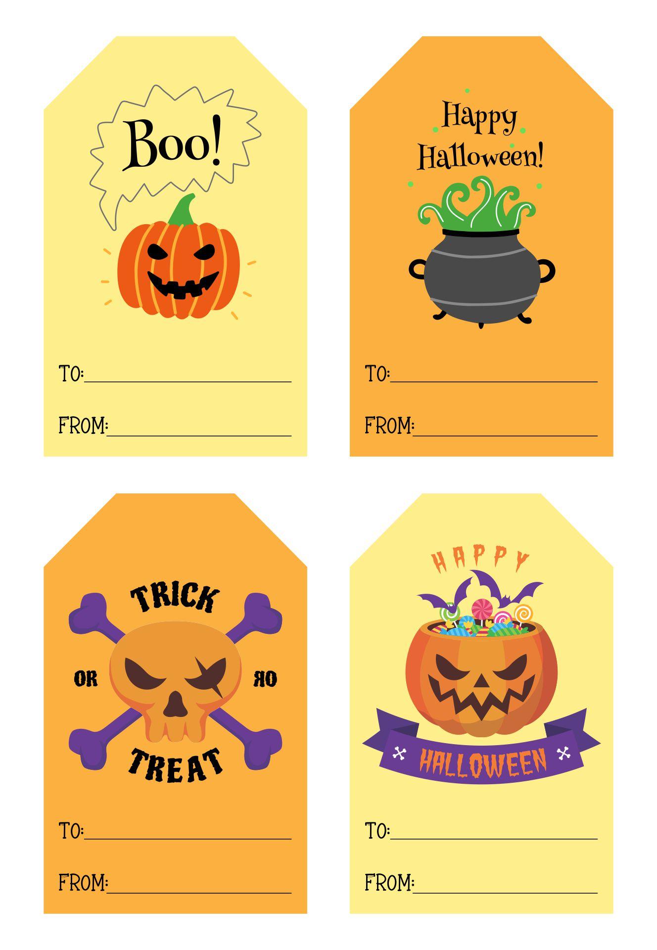 Halloween Treat Bag Tag Ideas