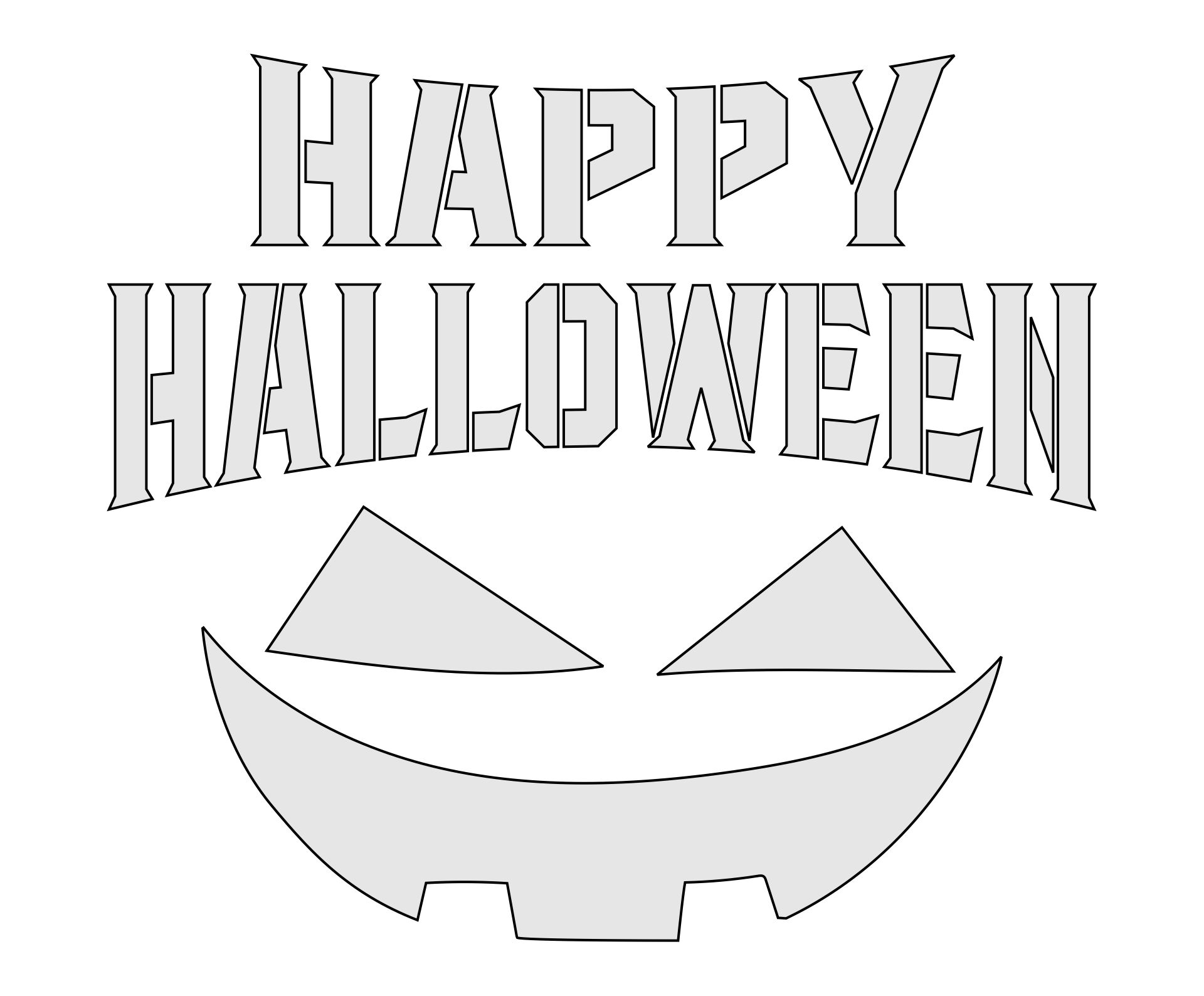 Happy Halloween Cut Out Pumpkin Jack