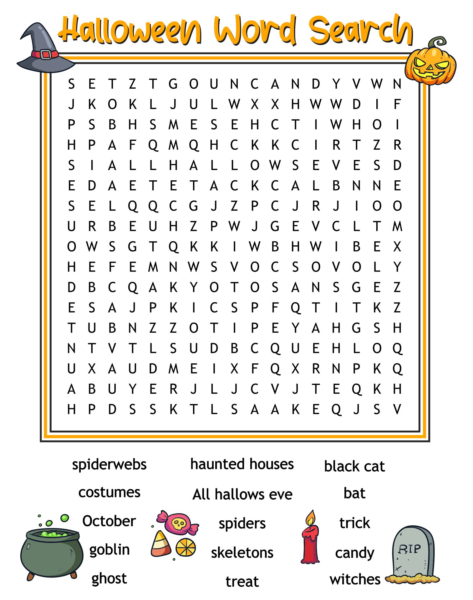 Happy Halloween Word Search Puzzle