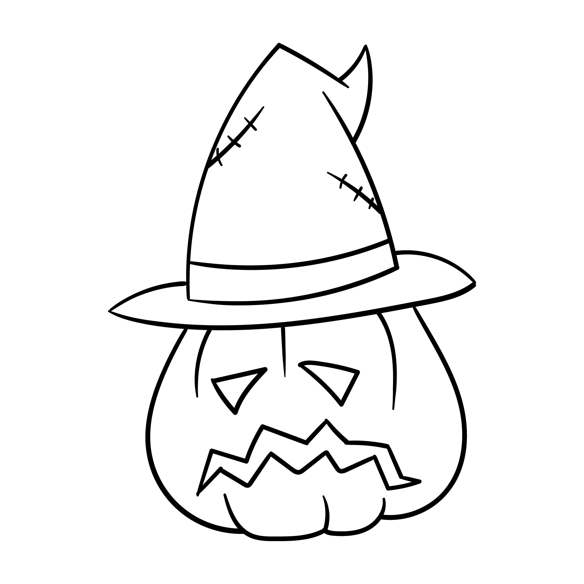 Jack O Lantern Pumpkins Halloween Free Printable Coloring Pages