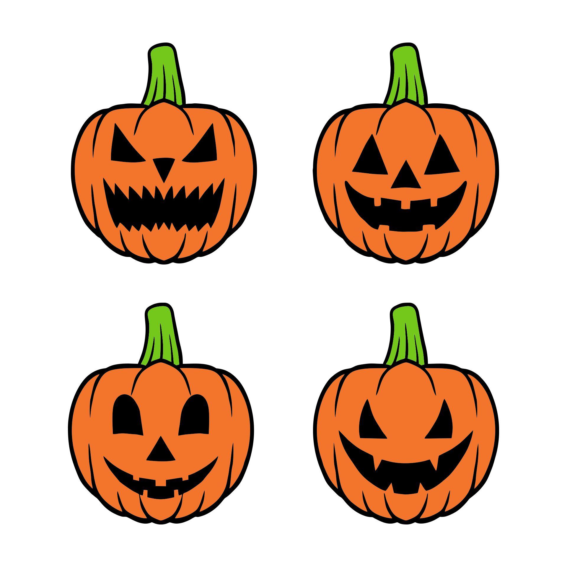 Paper Cut Out Pumpkin Happy