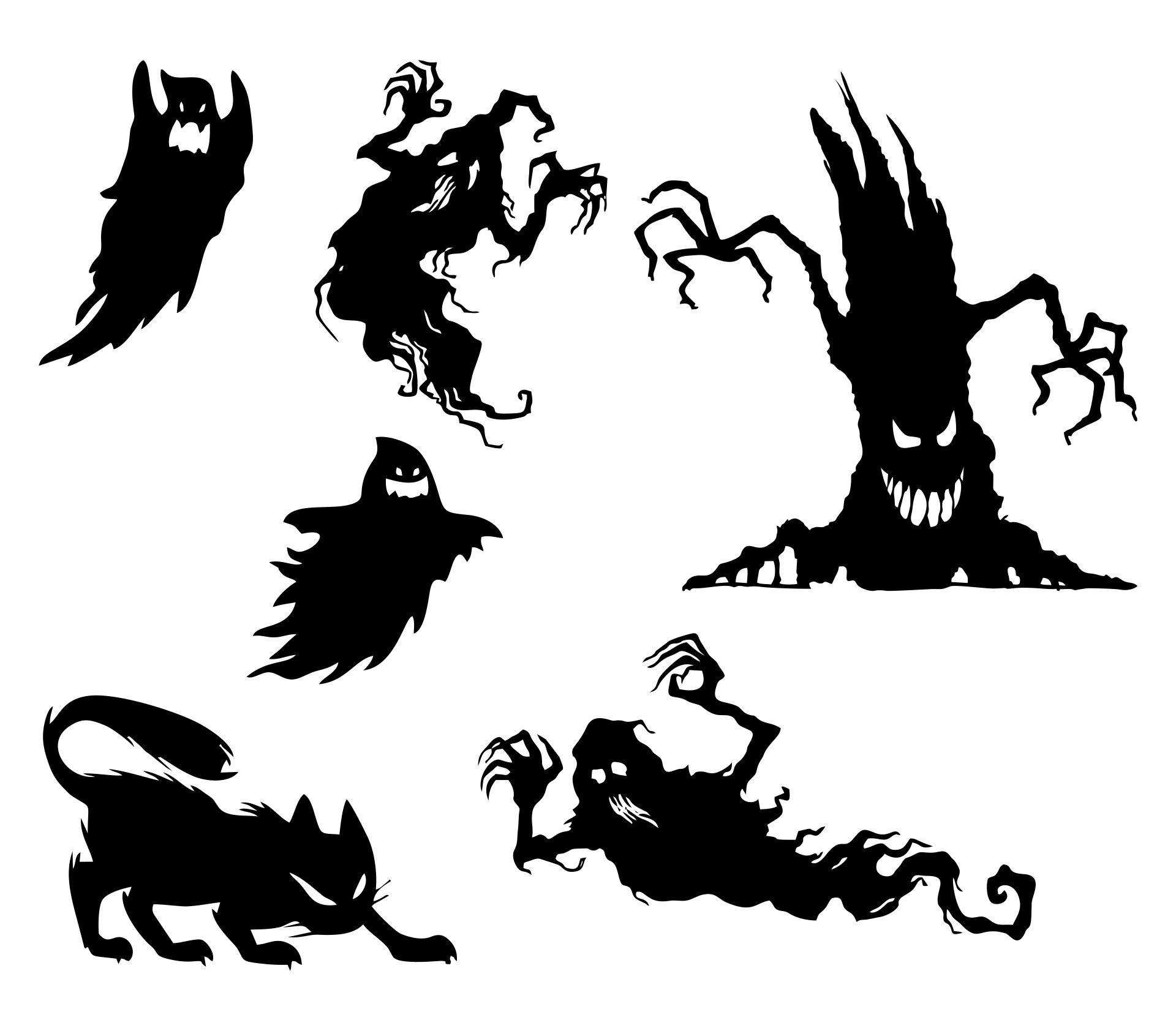 Printable Creepy Halloween Silhouettes