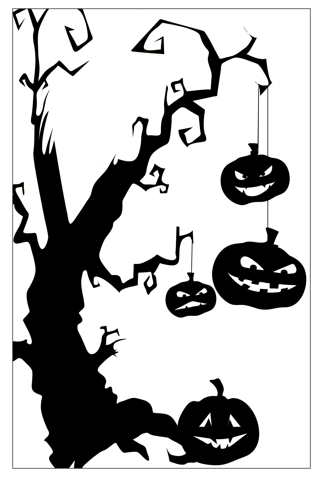 Printable Decorative Halloween Shower Screen Stickers