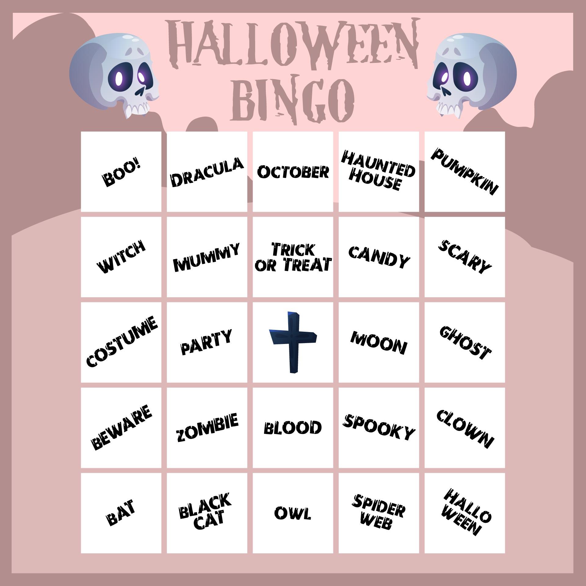 Printable Halloween Bingo Games