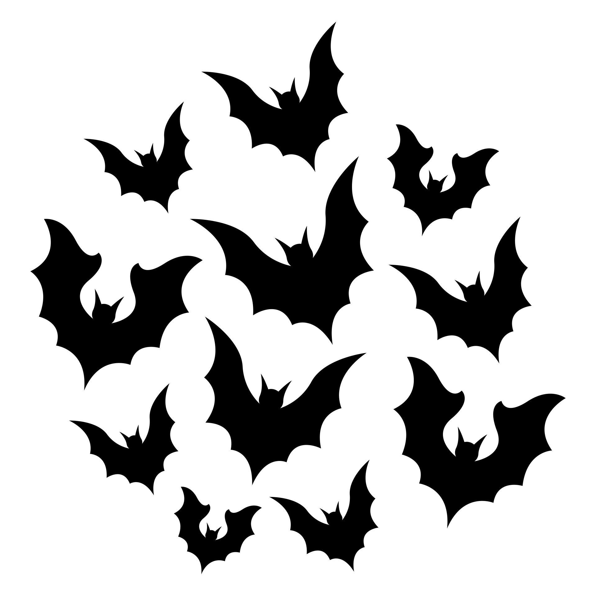 Printable Halloween Decorations Bat Template