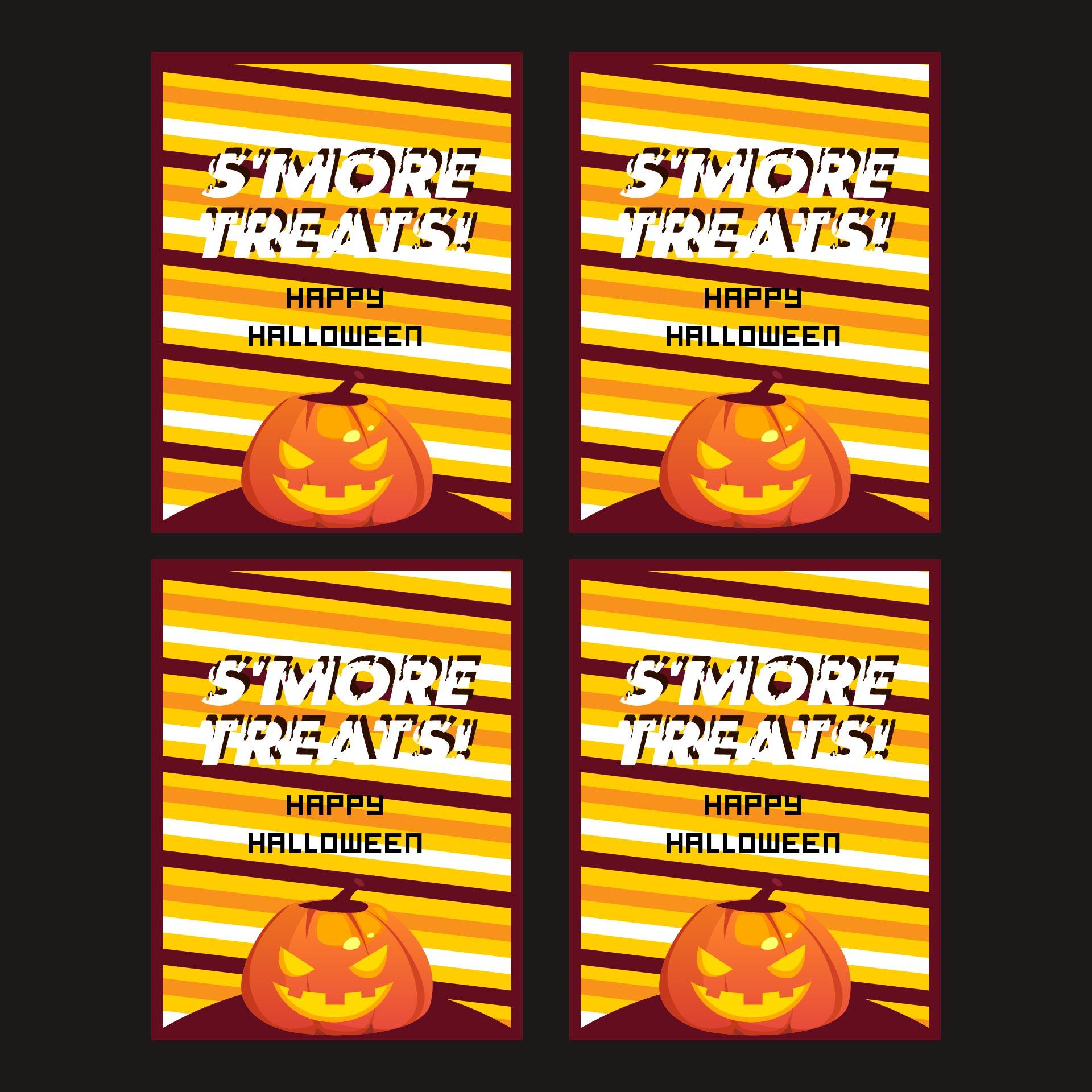 Printable Halloween Favor Tags Halloween Tags Smores Tags