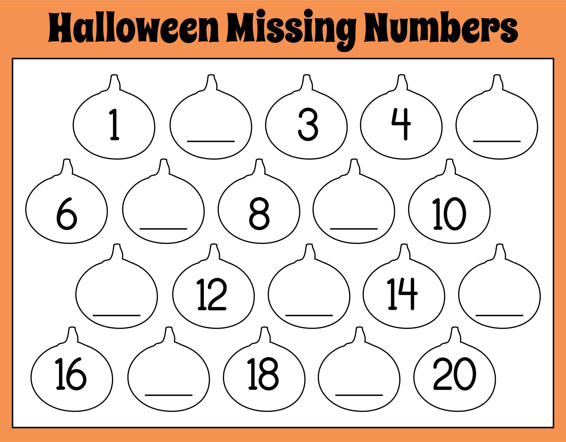 Printable Halloween Math Games