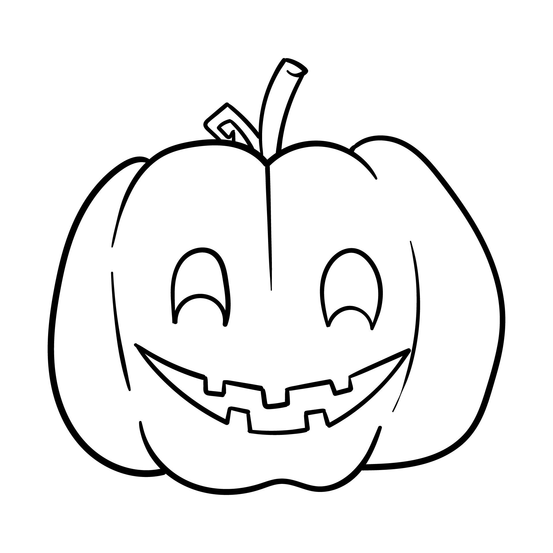 Printable Halloween Pumpkin Kids Coloring Pages