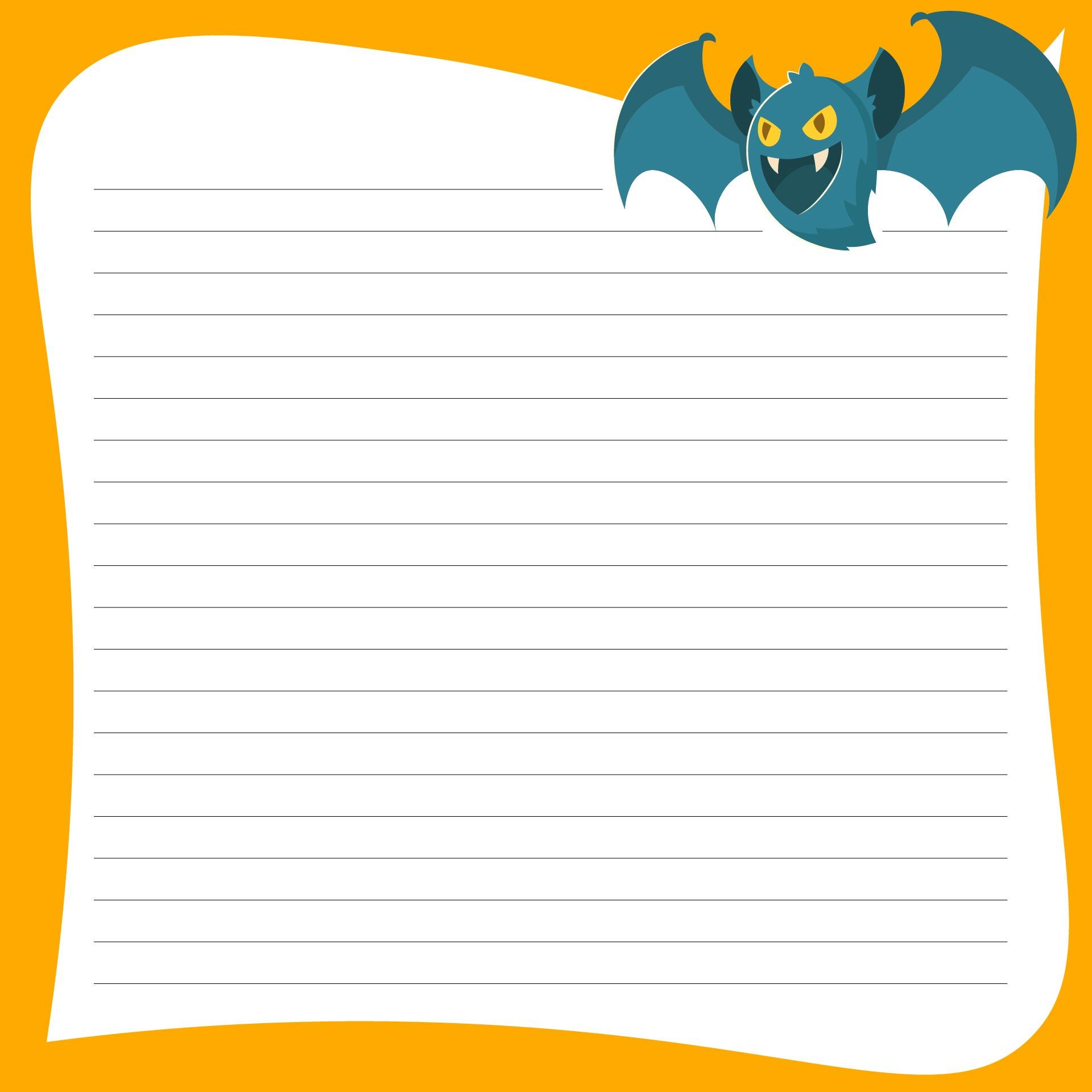 Printable Halloween Story Writing Templates