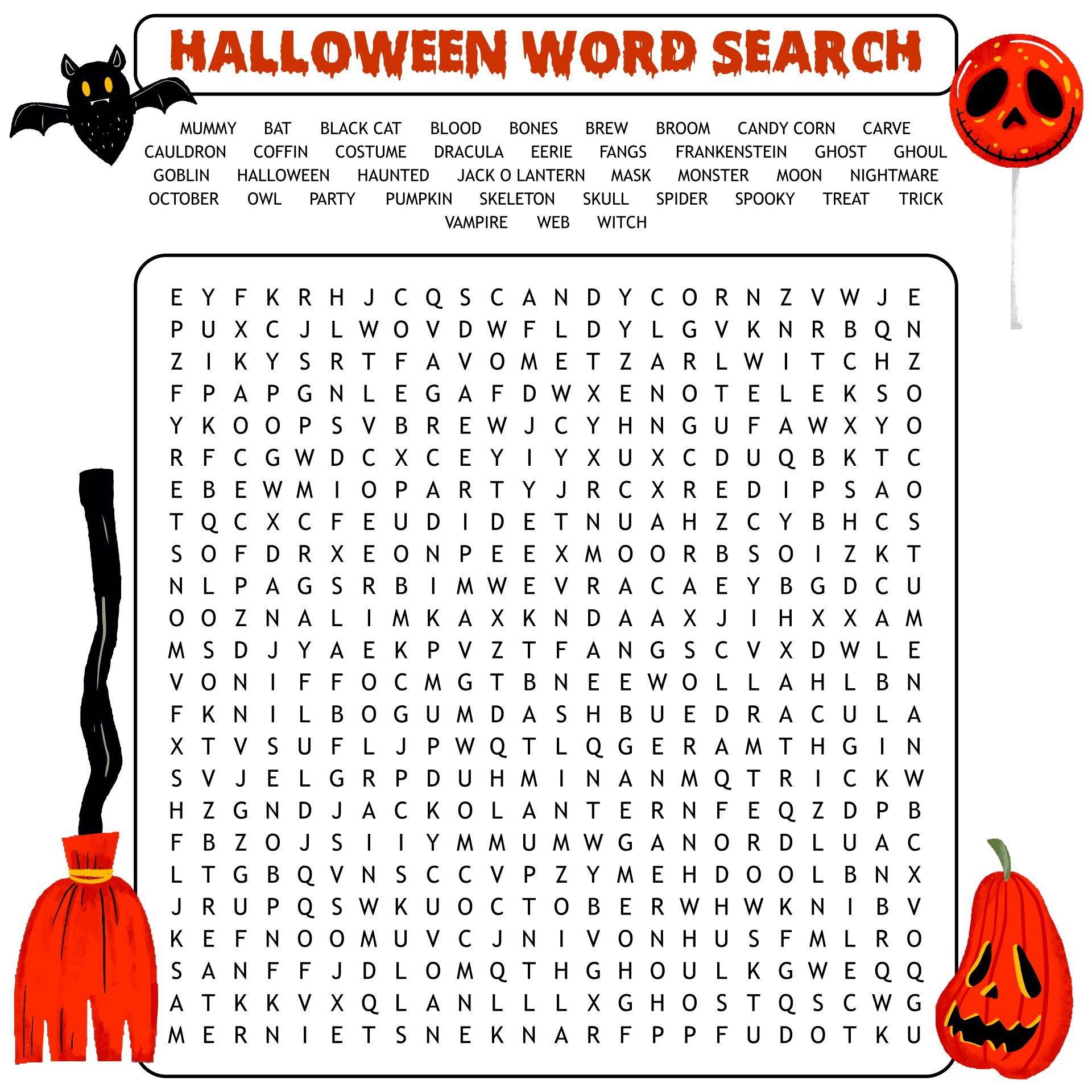 Printable Halloween Themed Party Games For Adults