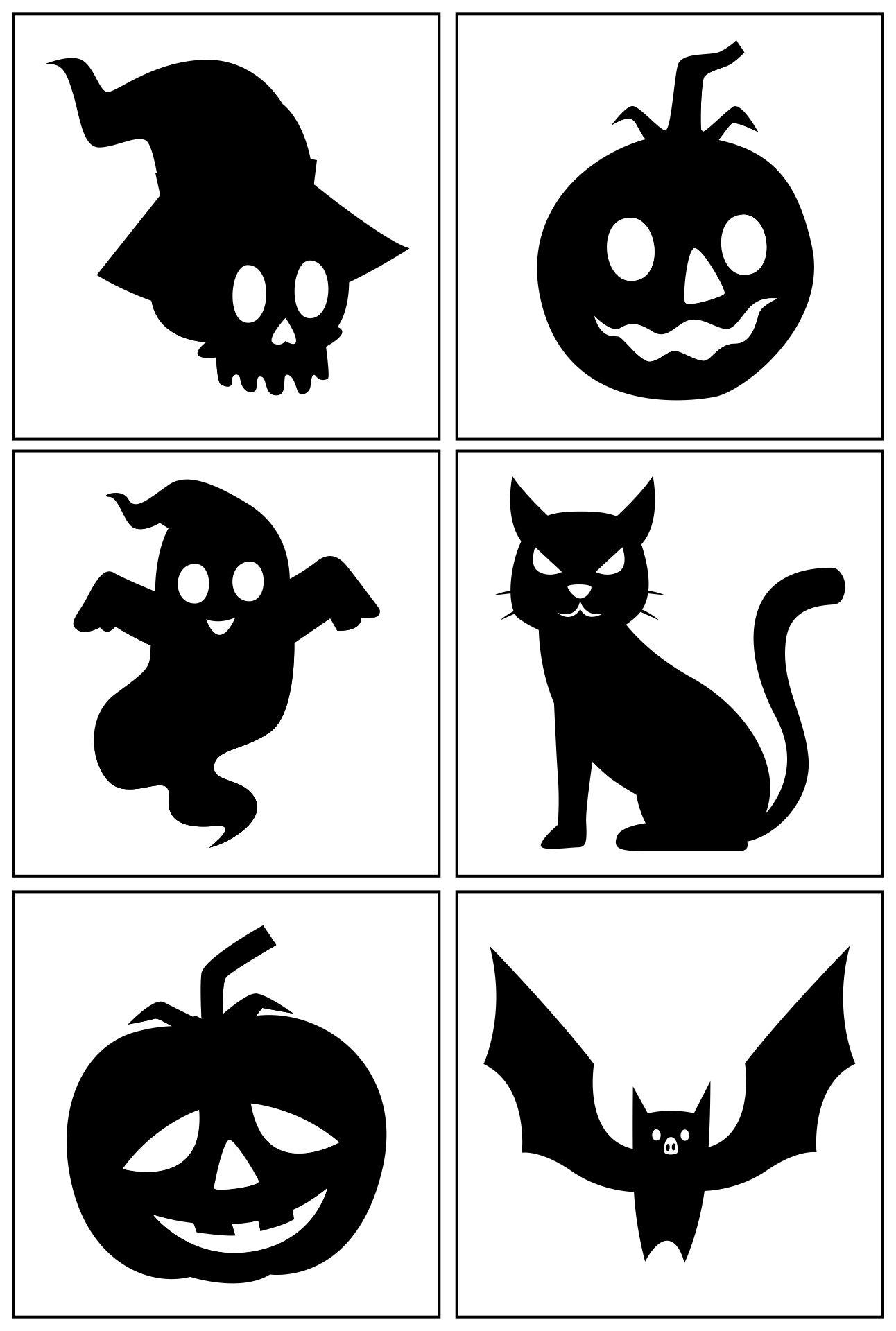 Printable Halloween Yard Silhouettes
