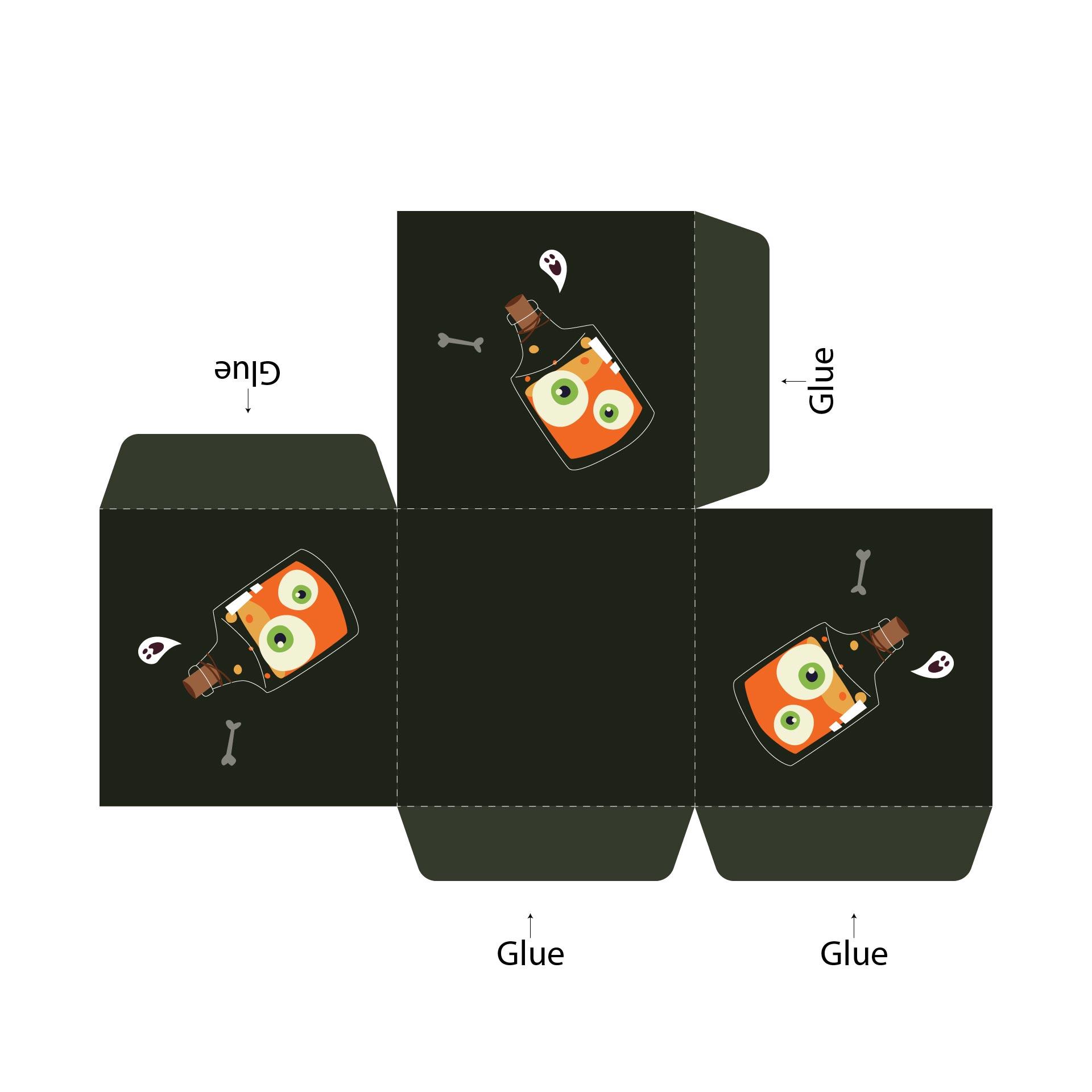 Printable Individual Halloween Cupcake Boxes