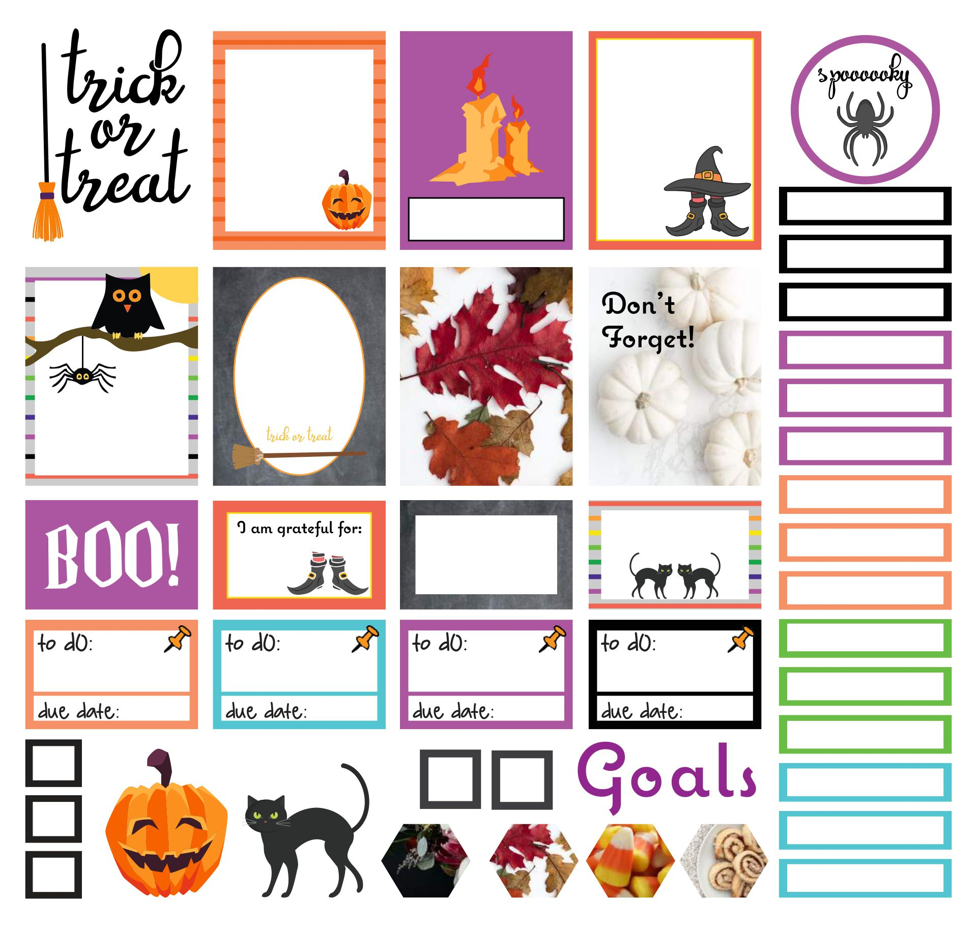 Printables Halloween Planner Stickers