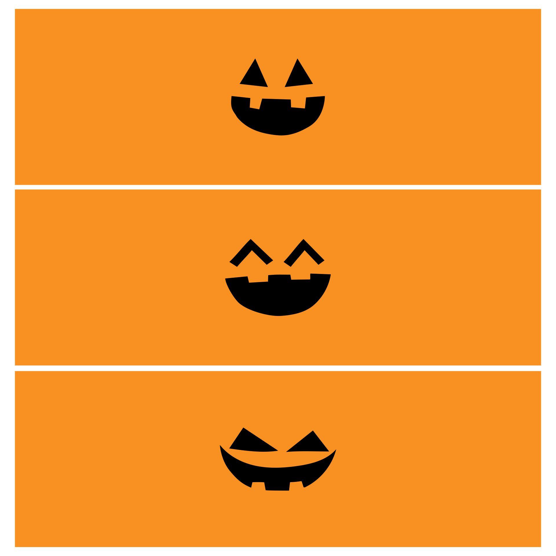 Pumpkin Face Juice Box Covers Halloween Printable