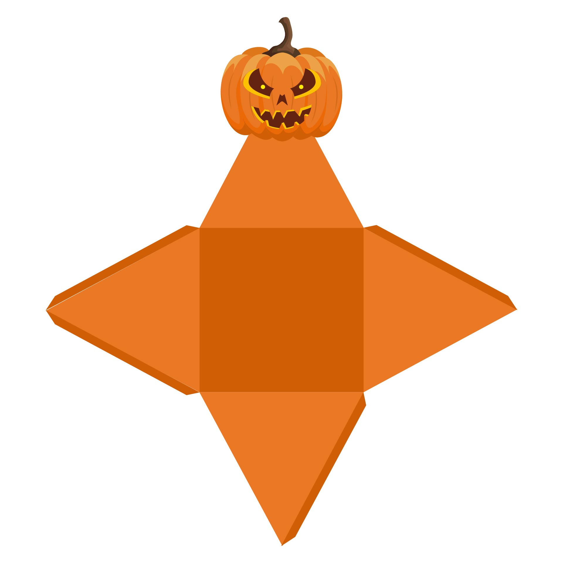 Pyramid Gift Box With Pumpkin Free Printable