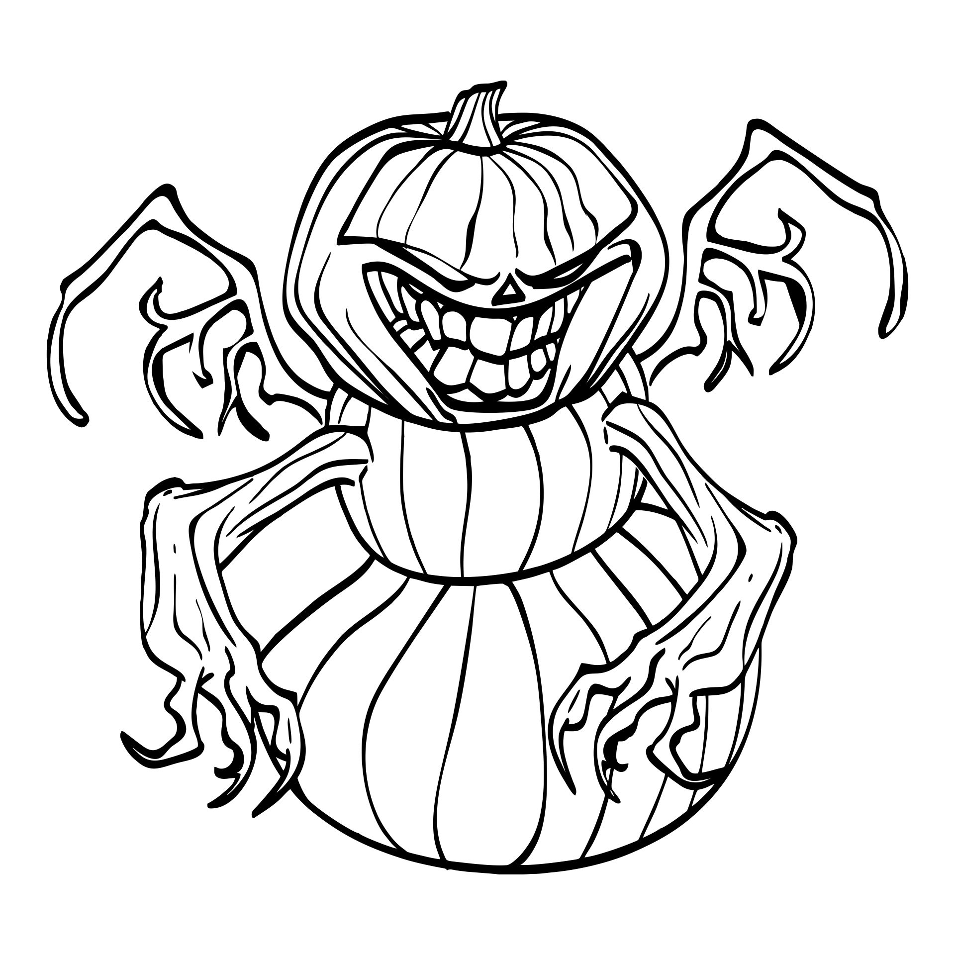 Scary Halloween Coloring Pages For Adults Printables