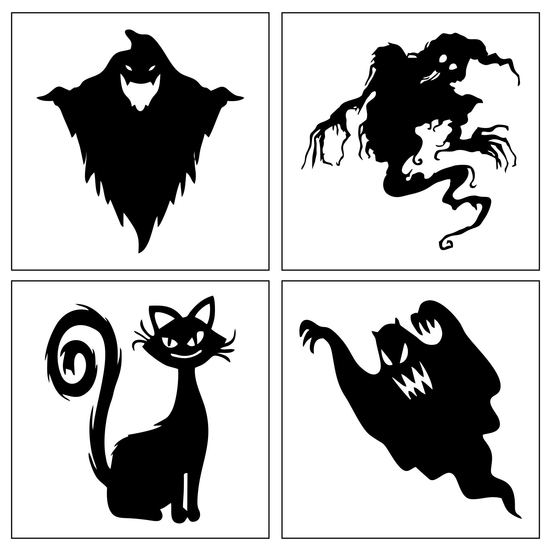 Scary Halloween Silhouettes For Windows