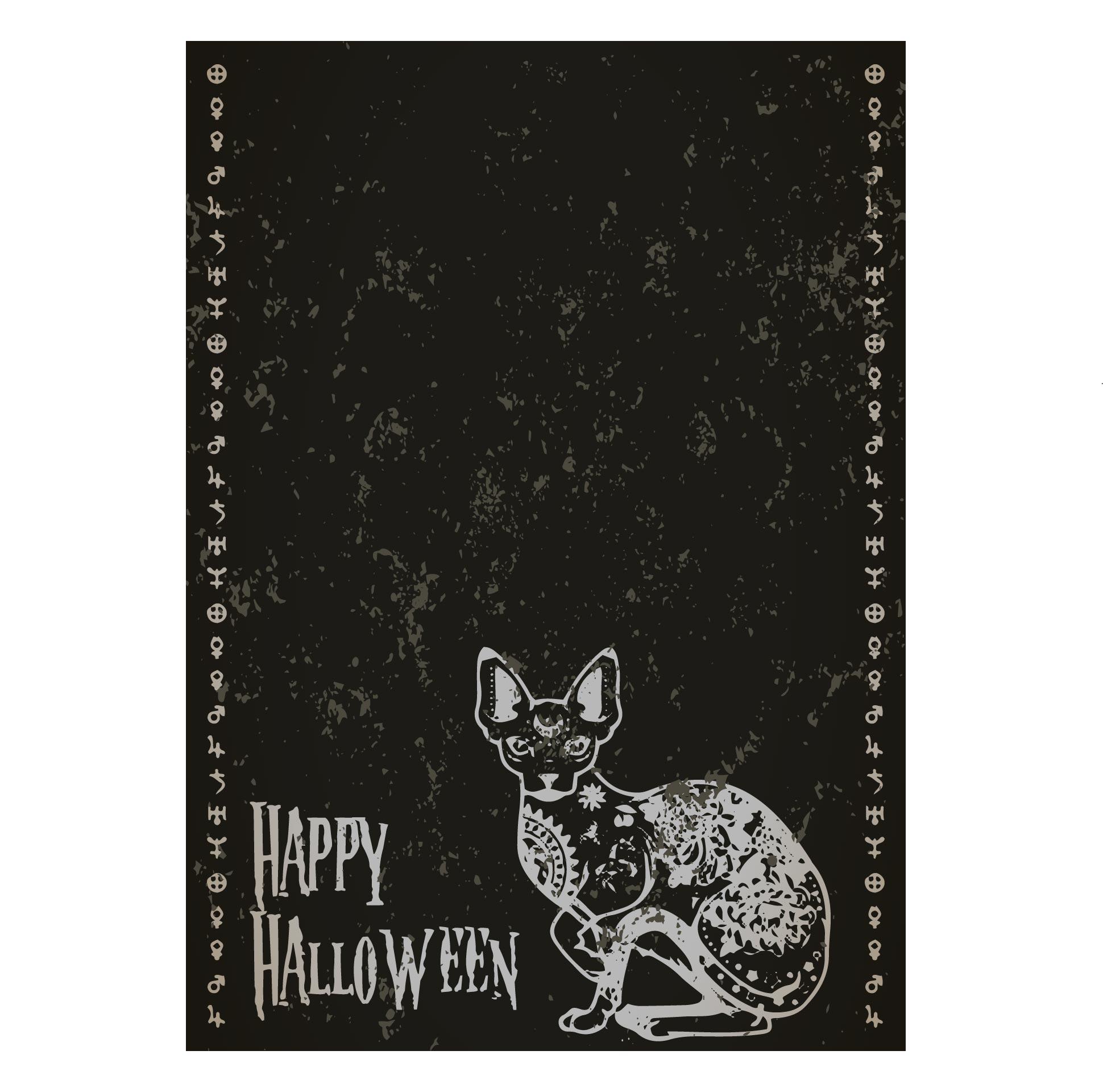 Vintage Halloween Cat Postcards
