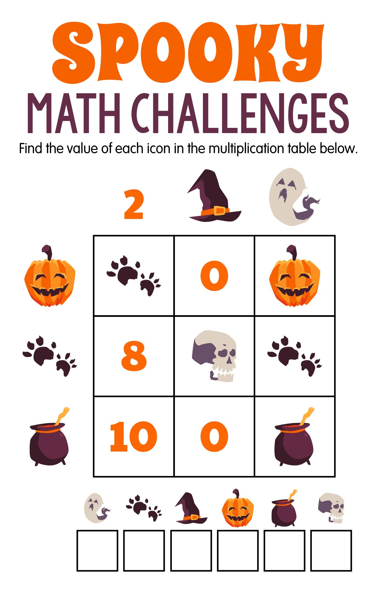 A Halloween Logic Puzzle Worksheet For 4th - 7th Grade