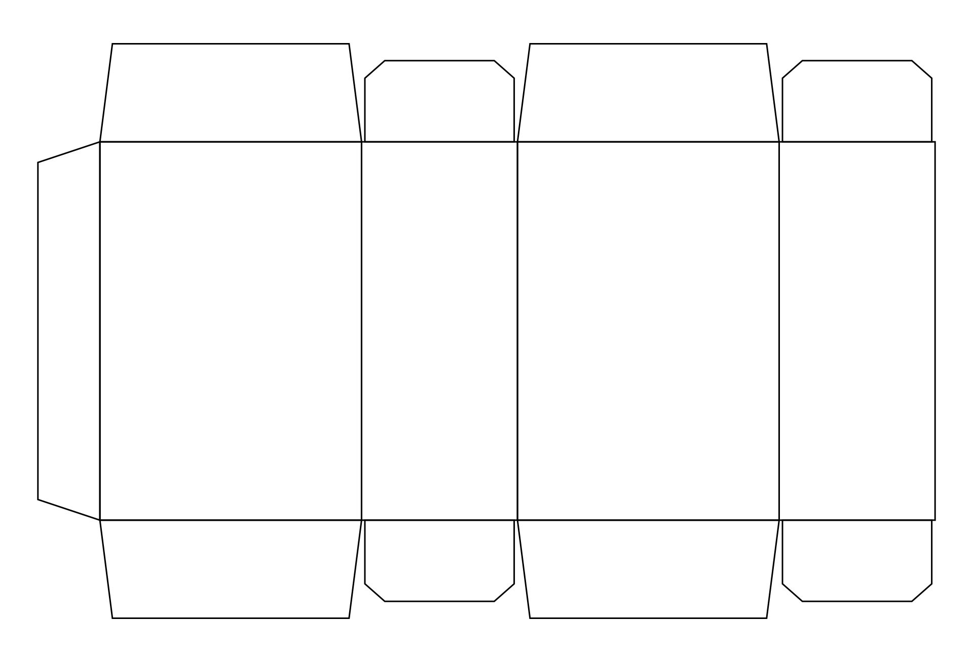 Blank Cereal Box Template Printable