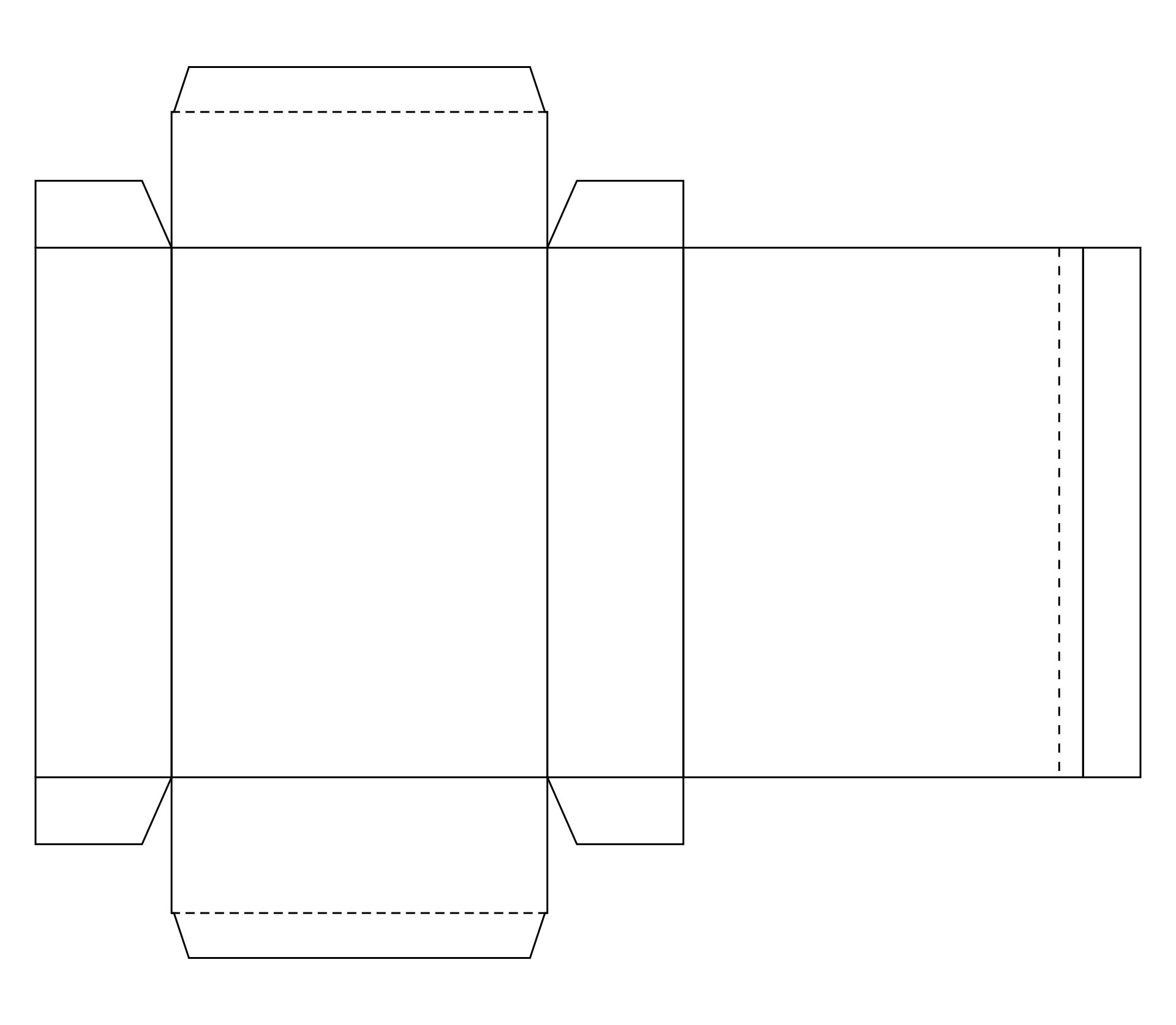 Blank Cereal Box Template Snack Box